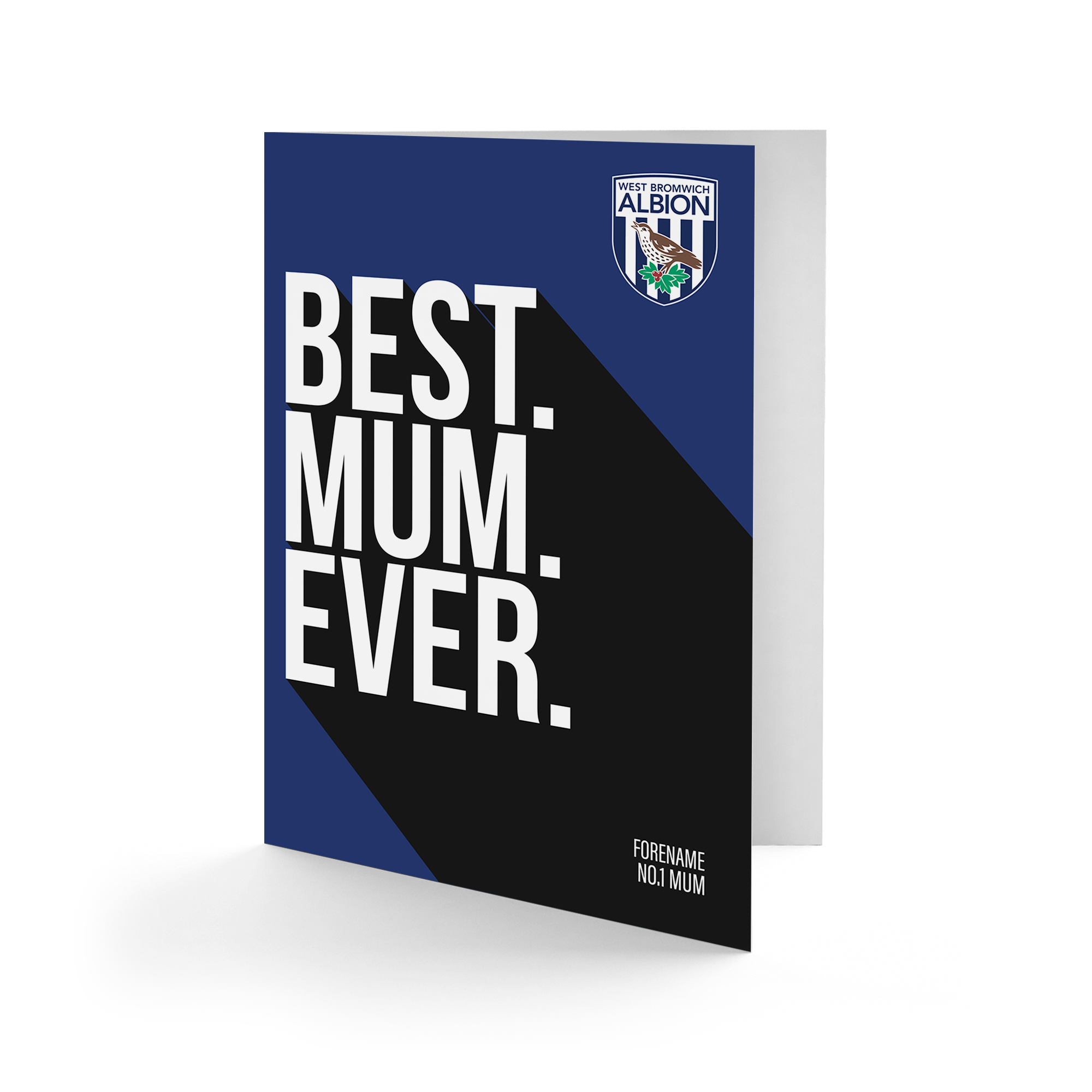 West Bromwich Albion FC Best Mum Ever Card