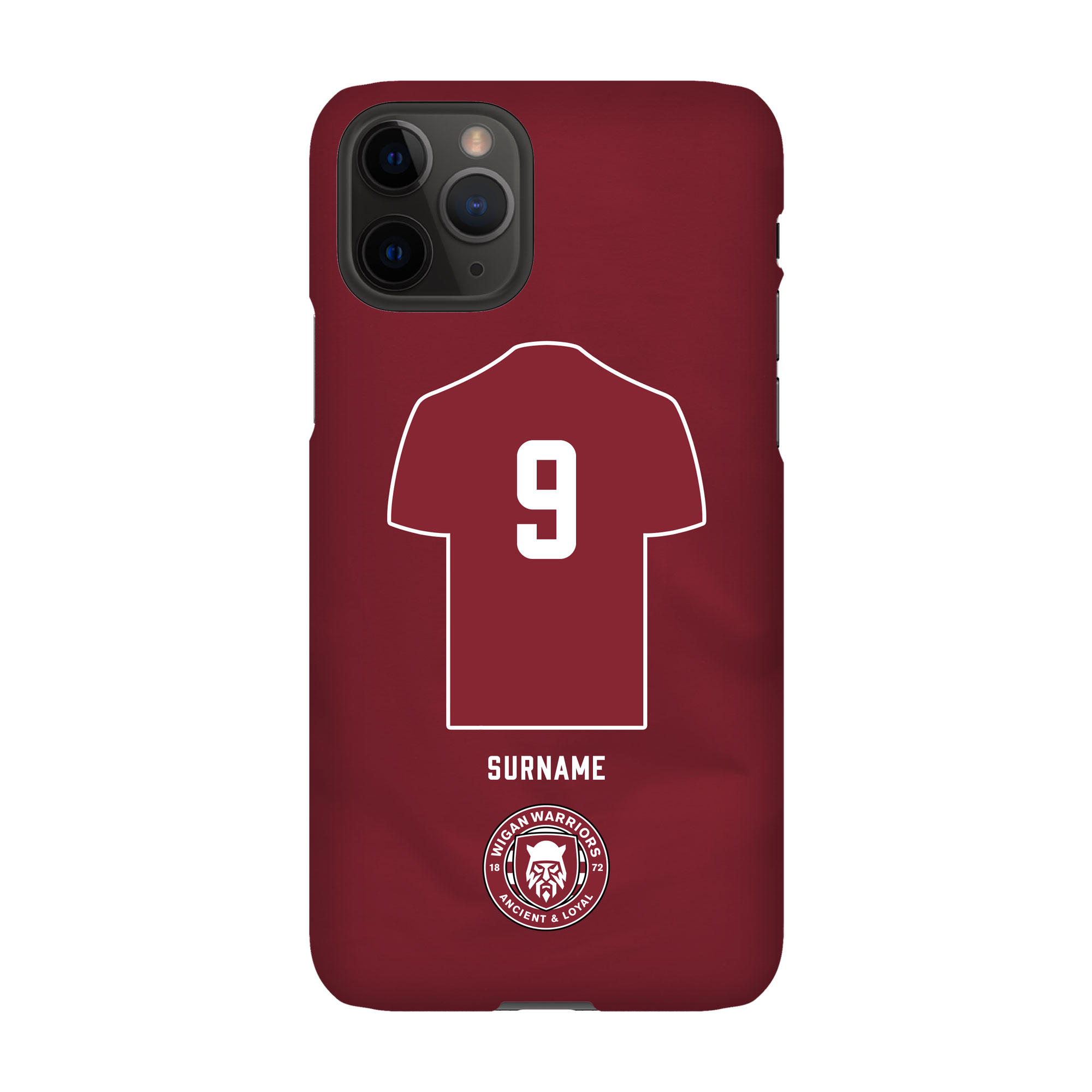 Wigan Warriors Shirt Hard Back Phone Case