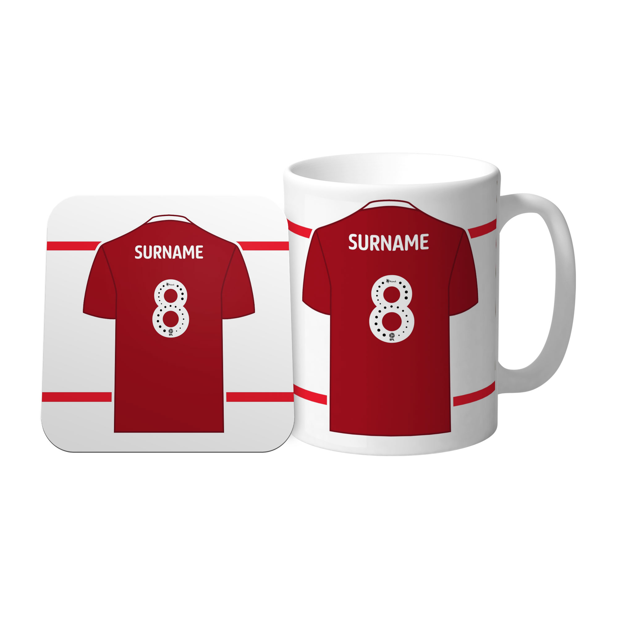 Nottingham Forest FC Shirt Mug & Coaster Set