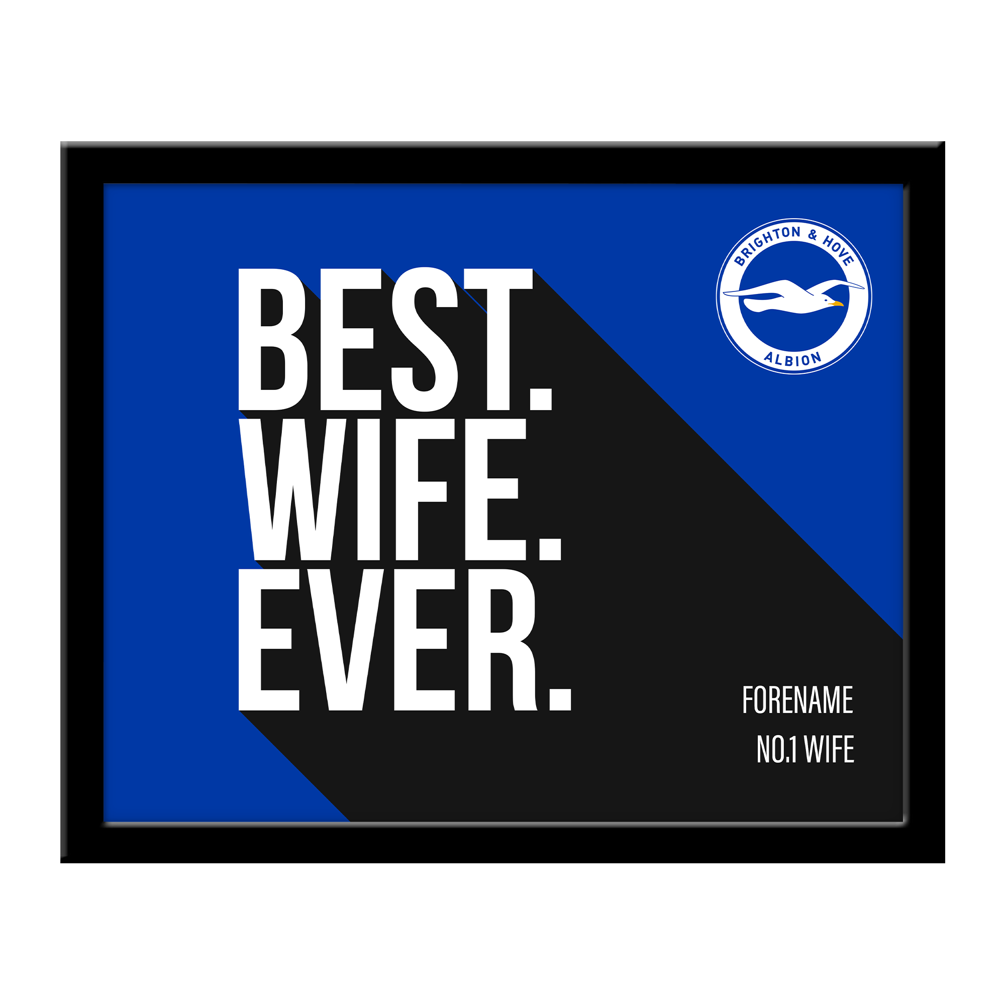 Brighton & Hove Albion FC Best Wife Ever 10 x 8 Photo Framed