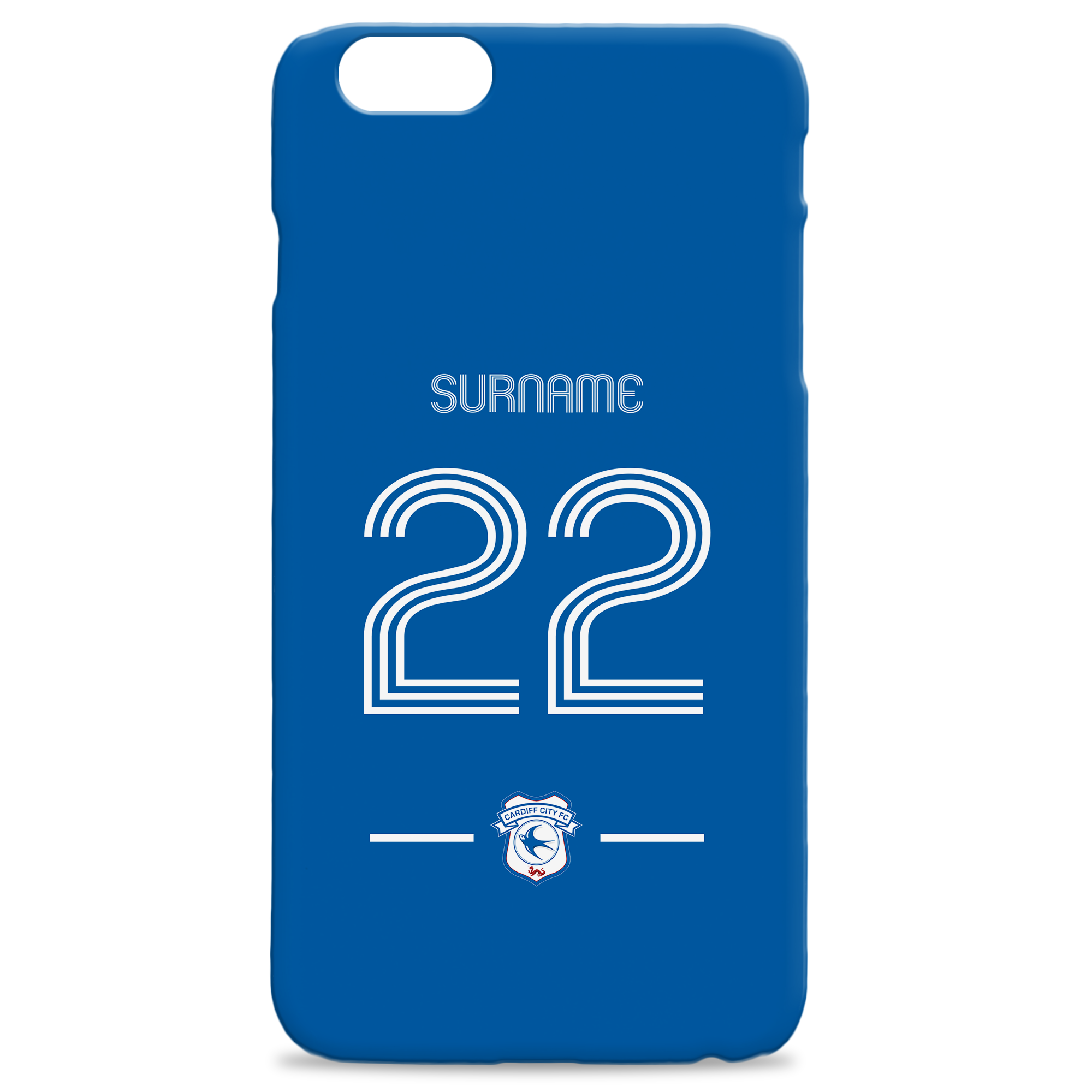 Cardiff City Retro Shirt Hard Back Phone Case