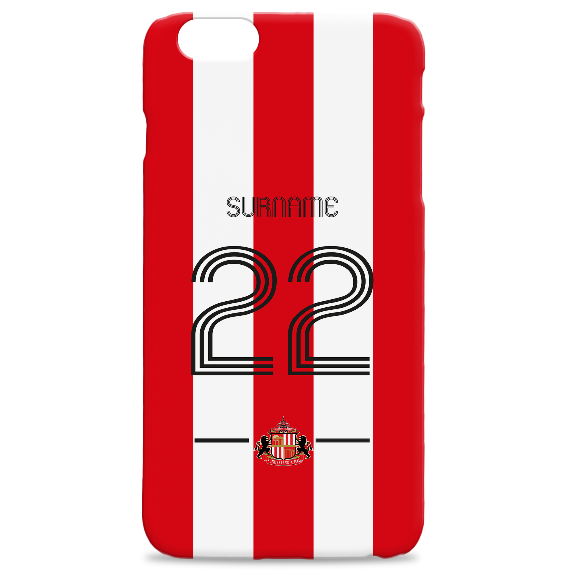 Sunderland Retro Shirt Hard Back Phone Case