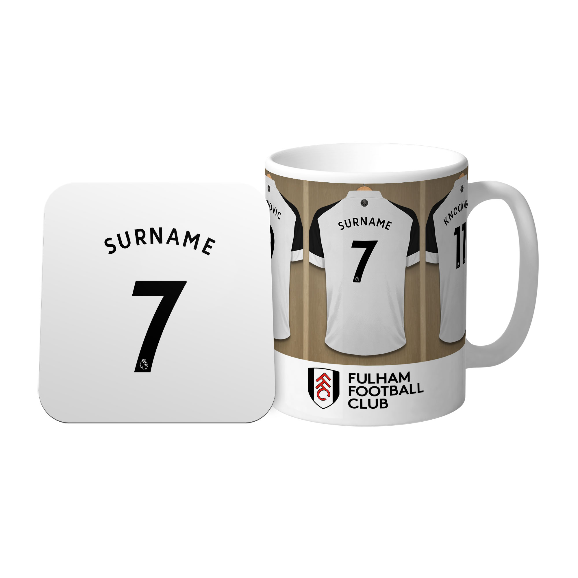 Fulham FC Dressing Room Mug & Coaster Set