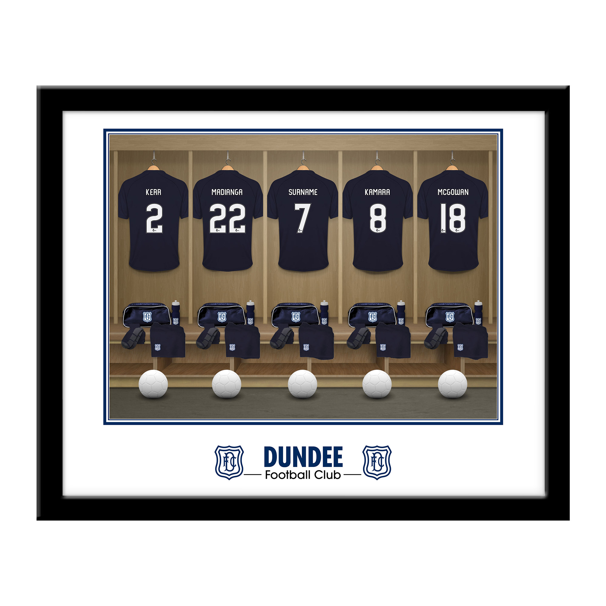 Dundee FC Dressing Room Framed Print