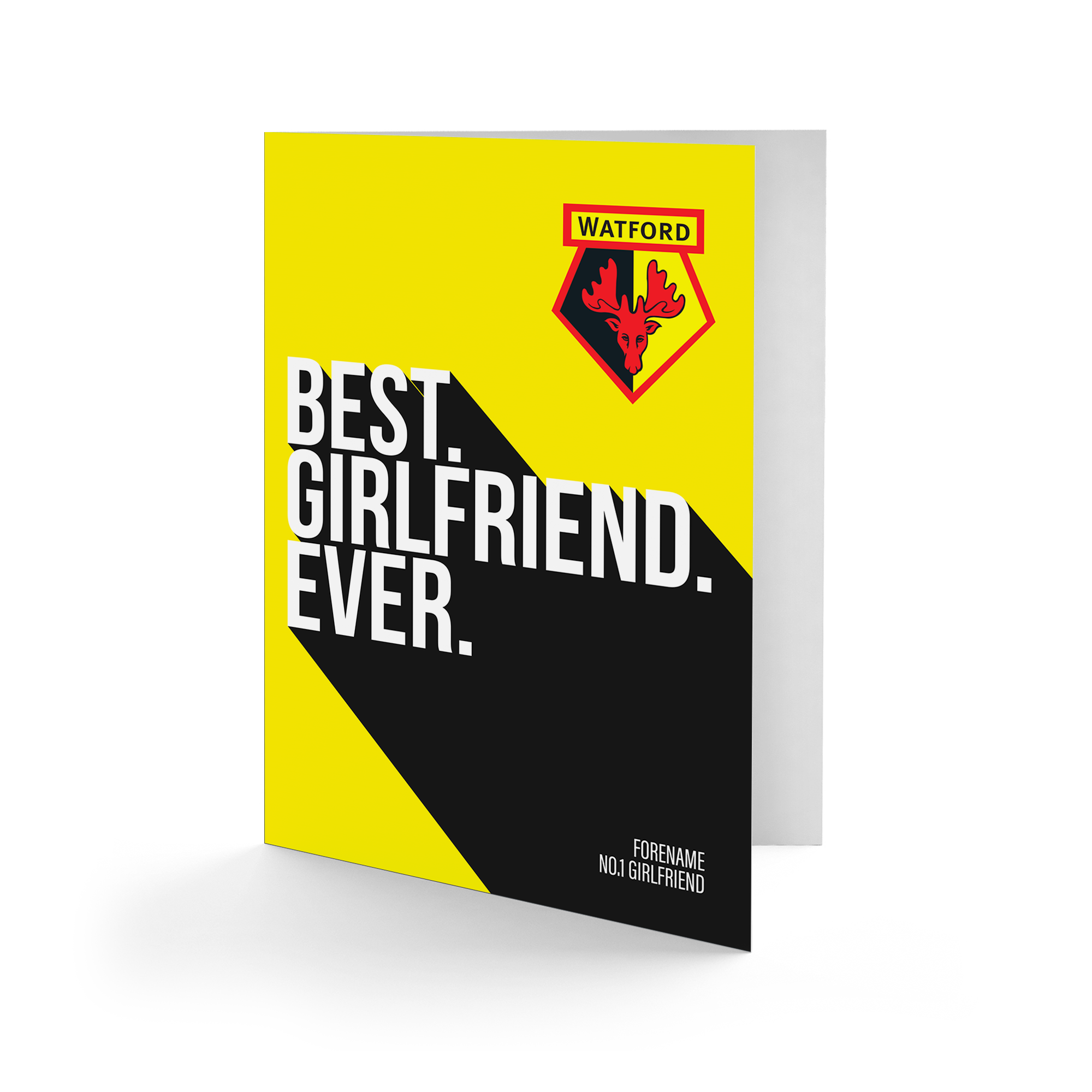 Watford FC Best Girlfriend Ever Card