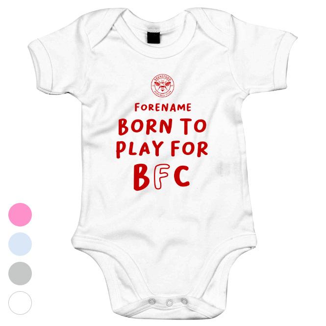 Brentford FC Born to Play Baby Bodysuit