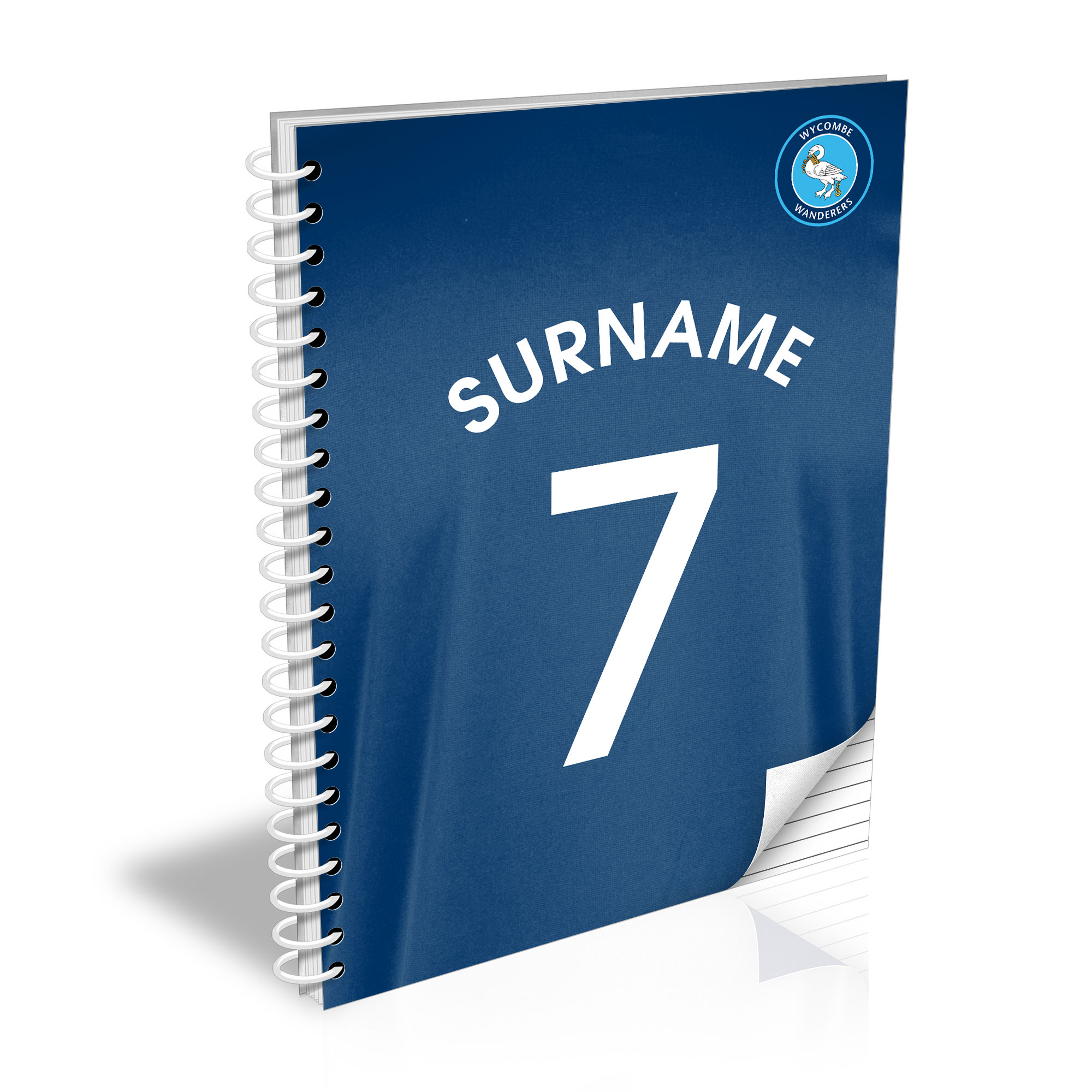 Wycombe Wanderers Shirt Notebook