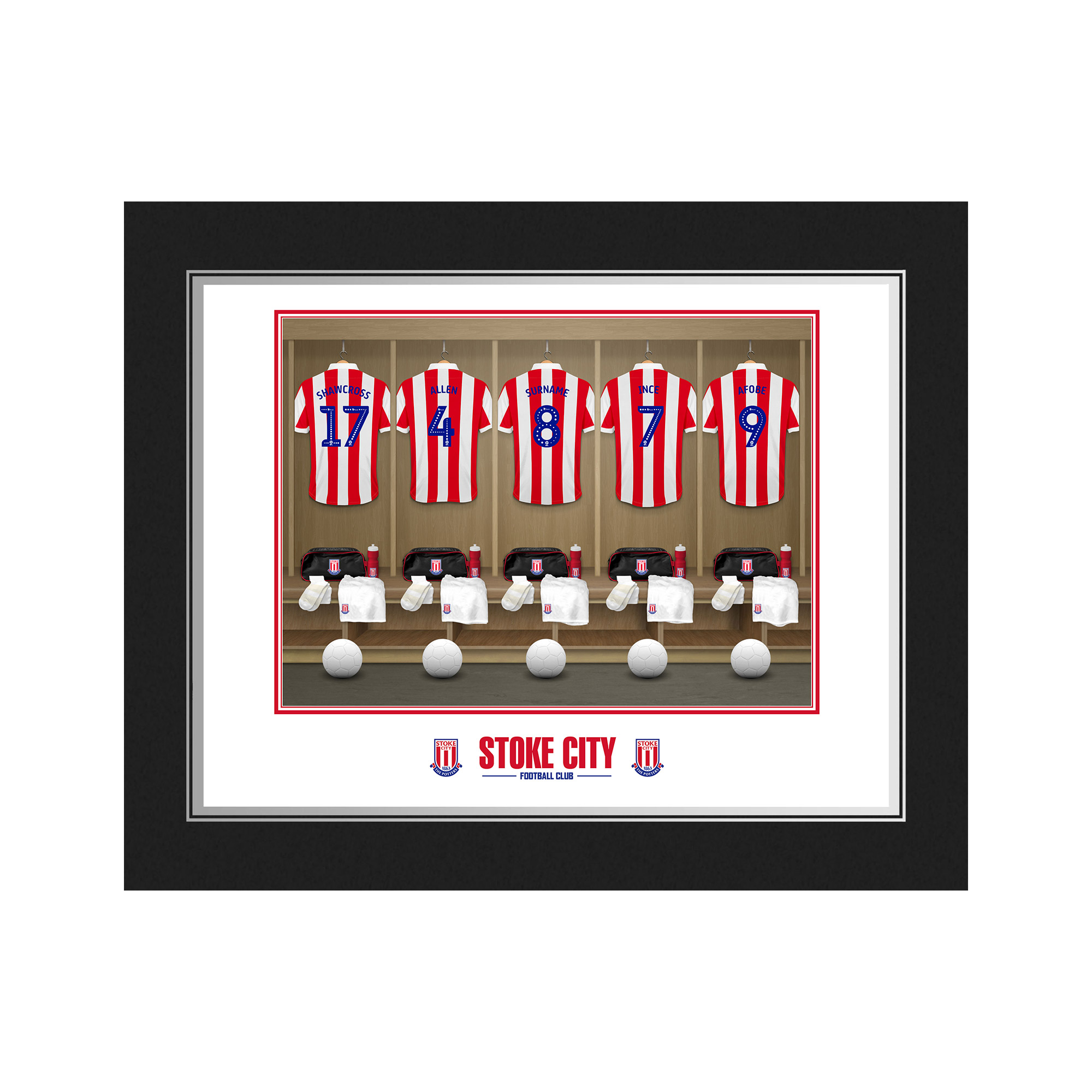 Stoke City FC Dressing Room Photo Folder