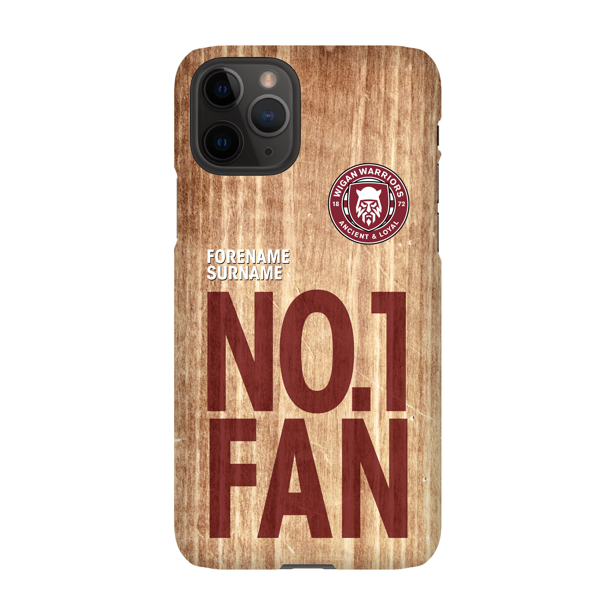 Wigan Warriors No 1 Fan Hard Back Phone Case