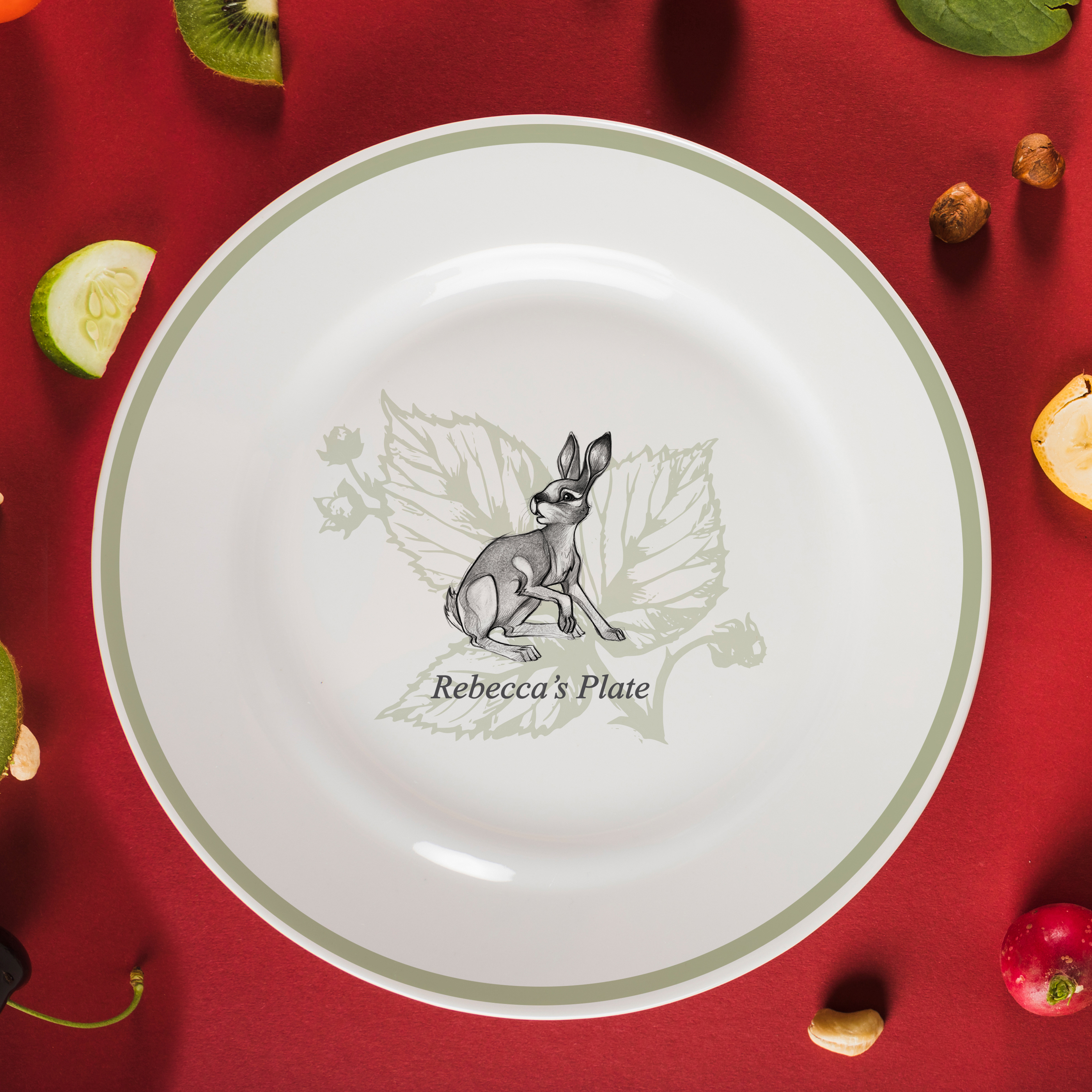 "Watership Down 8"" Rimmed Plate - Fiver"