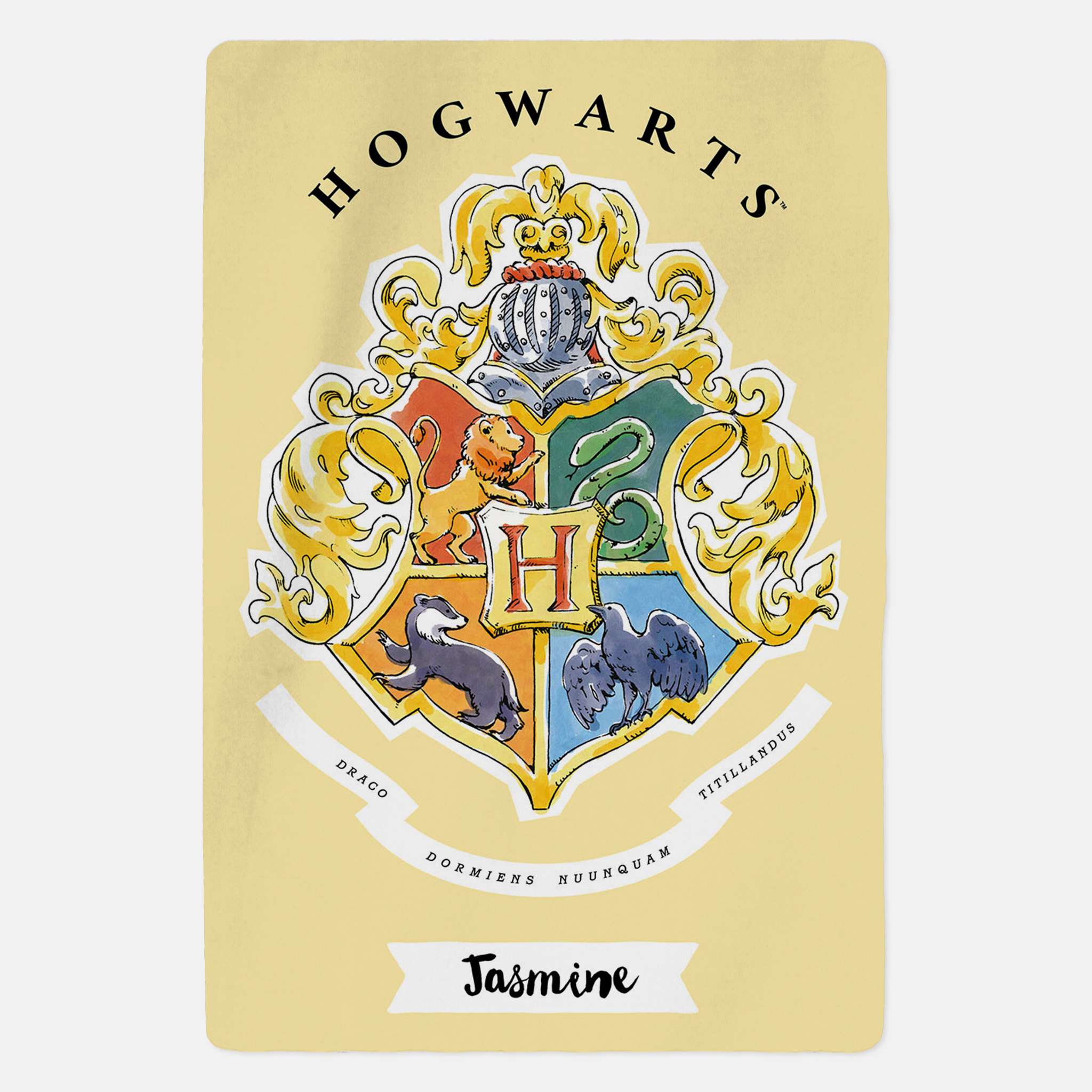 Harry Potter™ Personalised Blanket - Hogwarts Crest