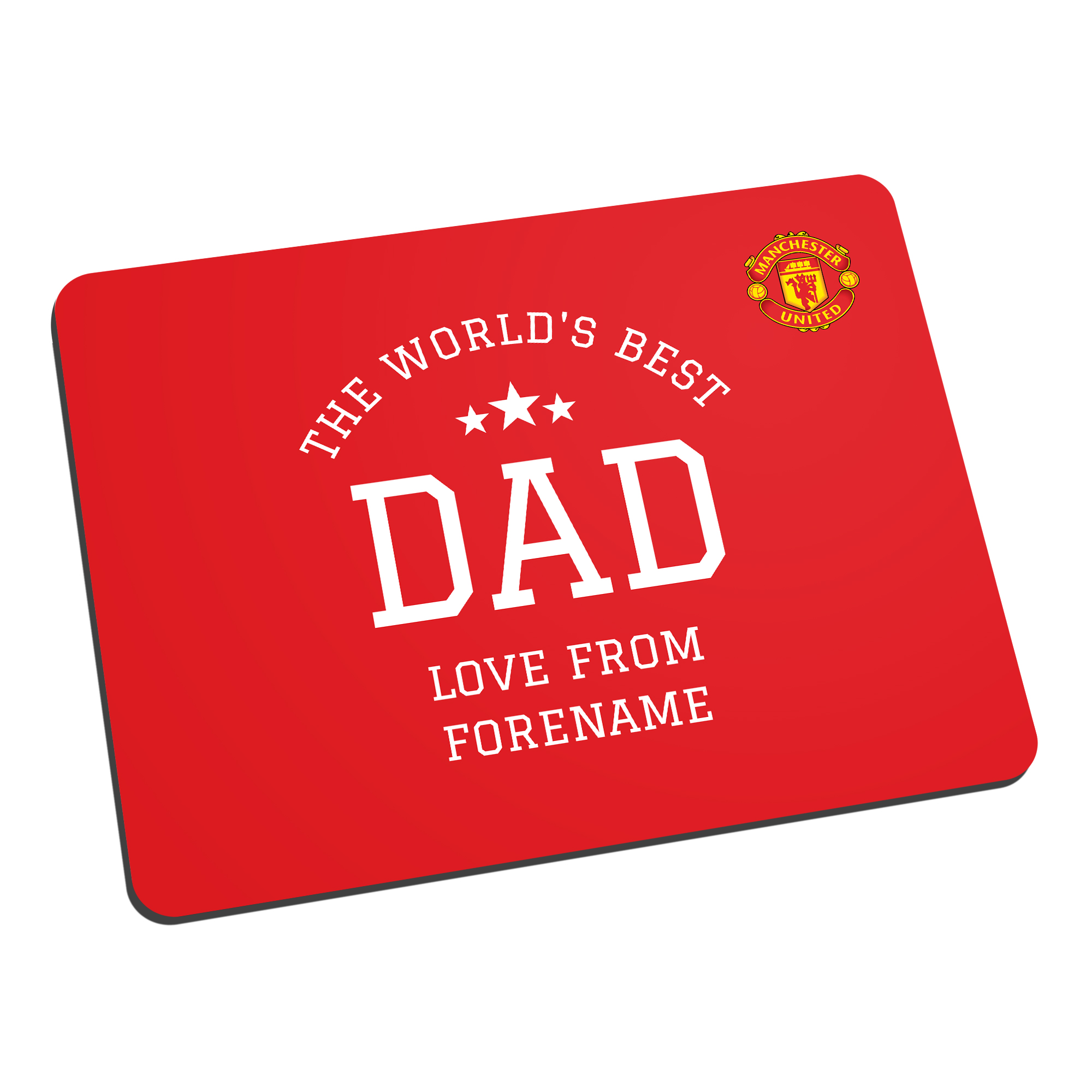 Manchester United FC World's Best Dad Mouse Mat