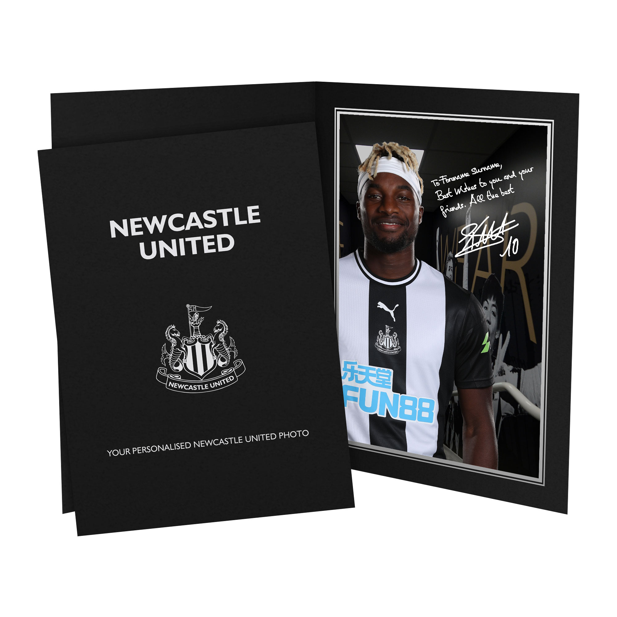Newcastle United FC Saint-Maximin Autograph Photo Folder