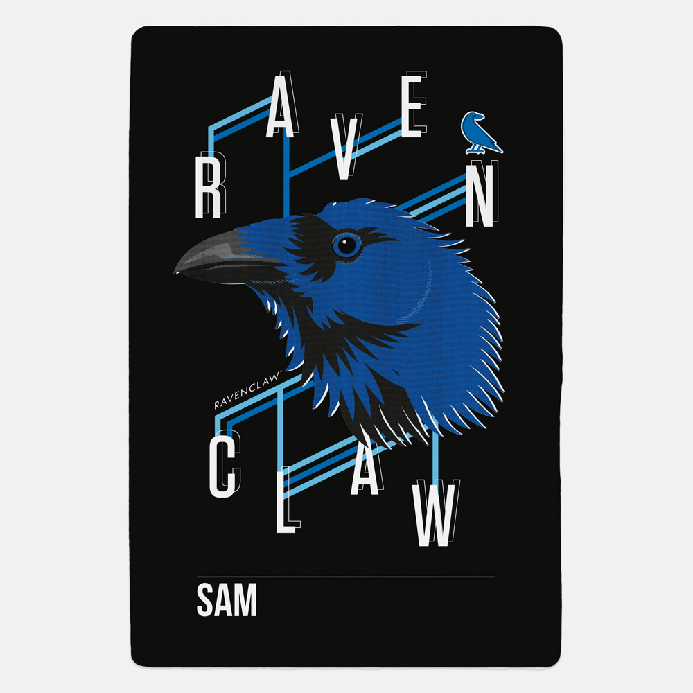 Ravenclaw™ Neo Print Personalised Fleece Blanket
