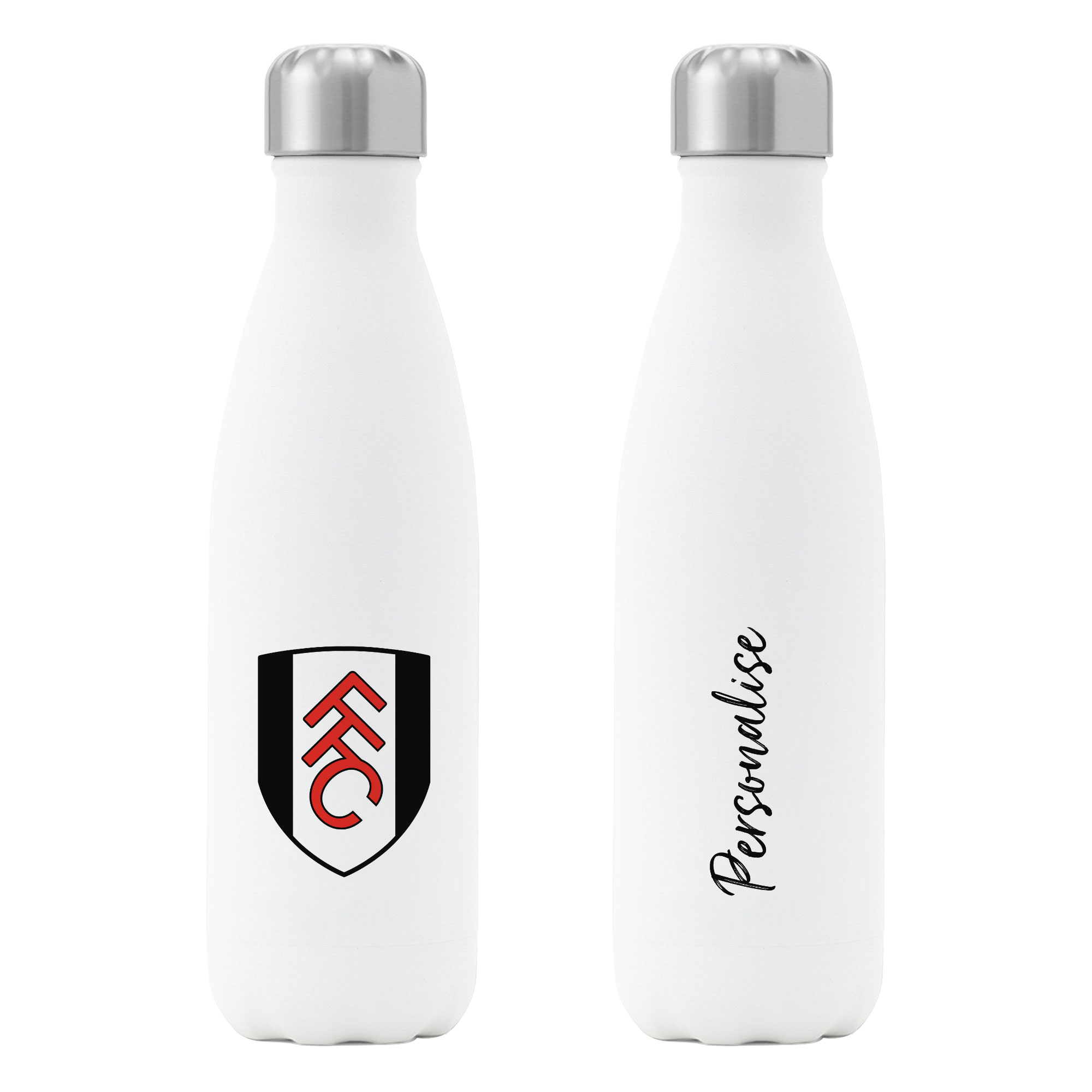 Fulham FC Crest Insulated Water Bottle - White