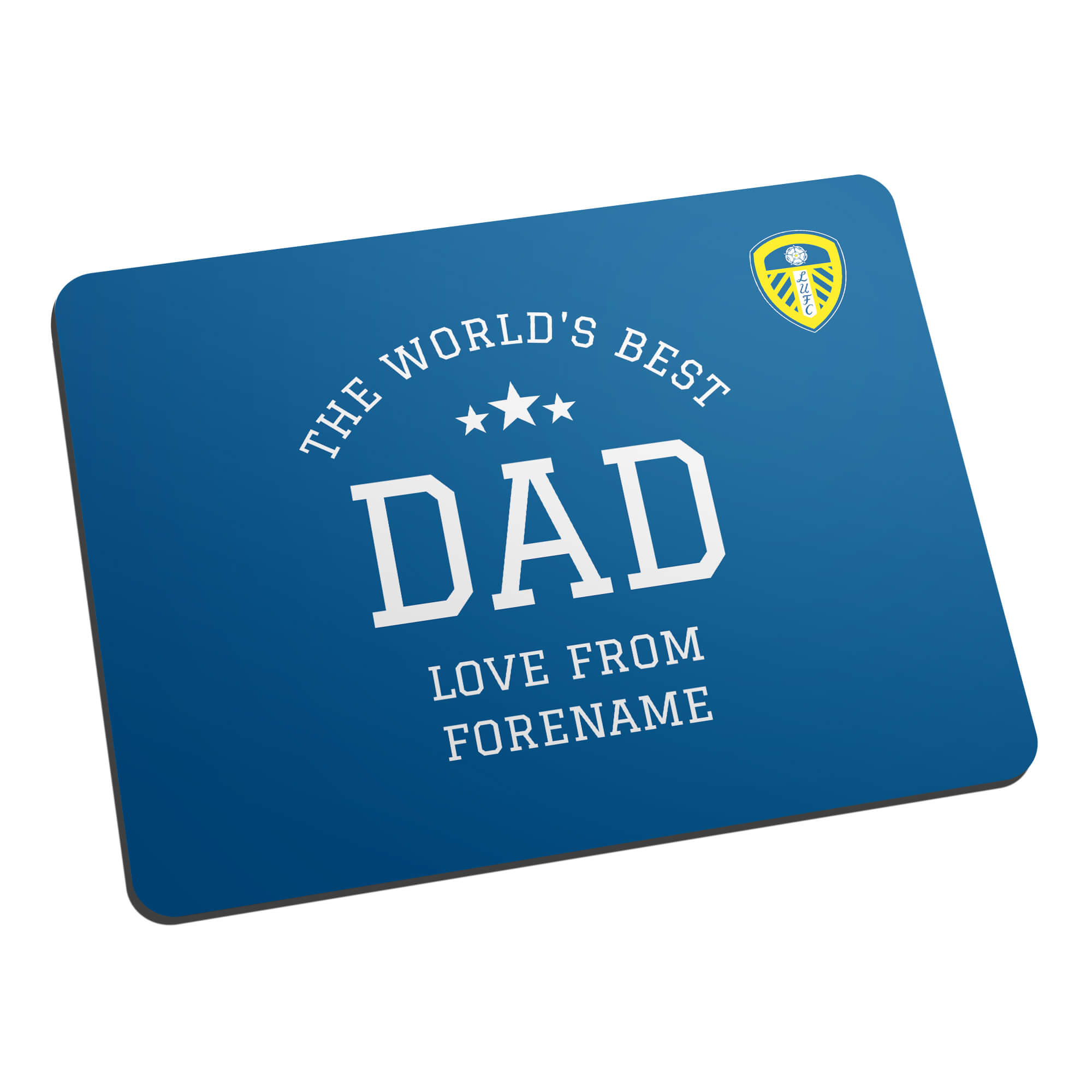 Leeds United FC World's Best Dad Mouse Mat