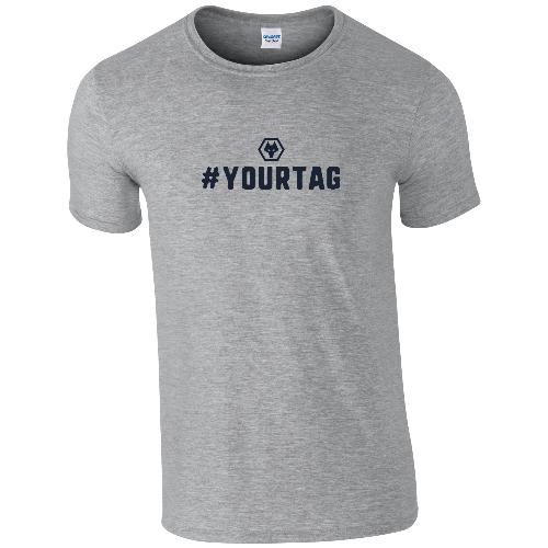 Wolves Crest Hashtag T-Shirt