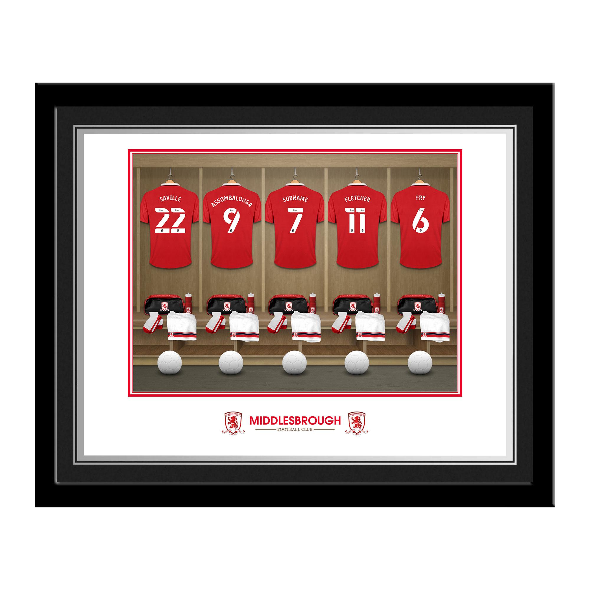 Middlesbrough FC Dressing Room Photo Framed