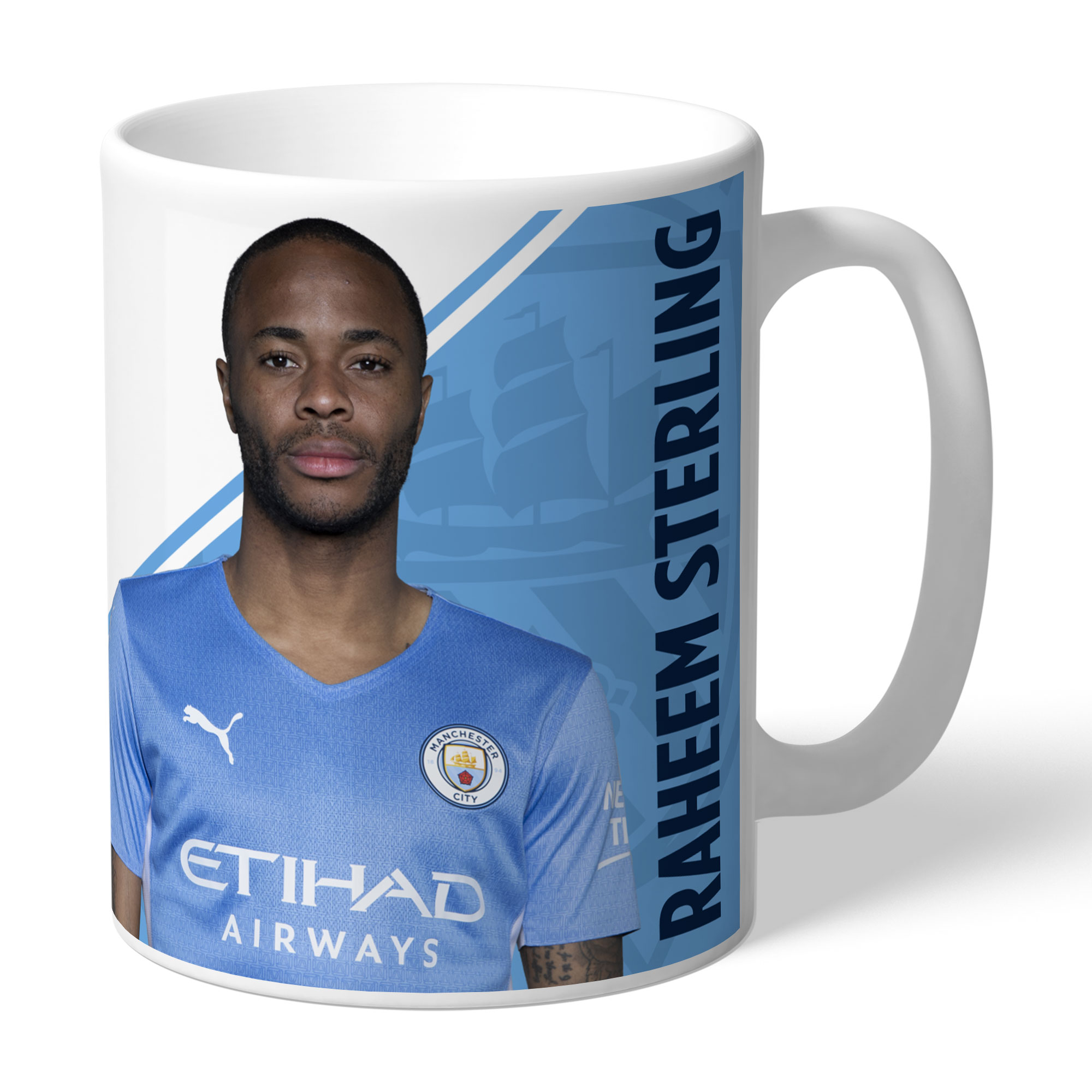 Manchester City FC Sterling Autograph Mug