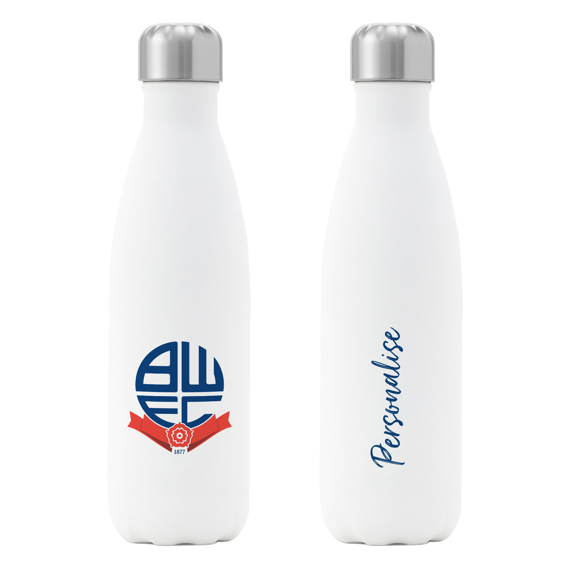 Bolton Wanderers FC Crest Insulated Water Bottle - White