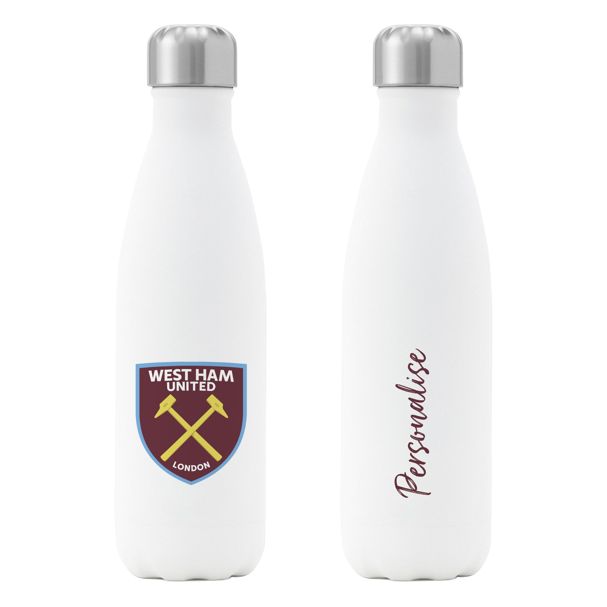 West Ham United FC Crest Insulated Water Bottle - White