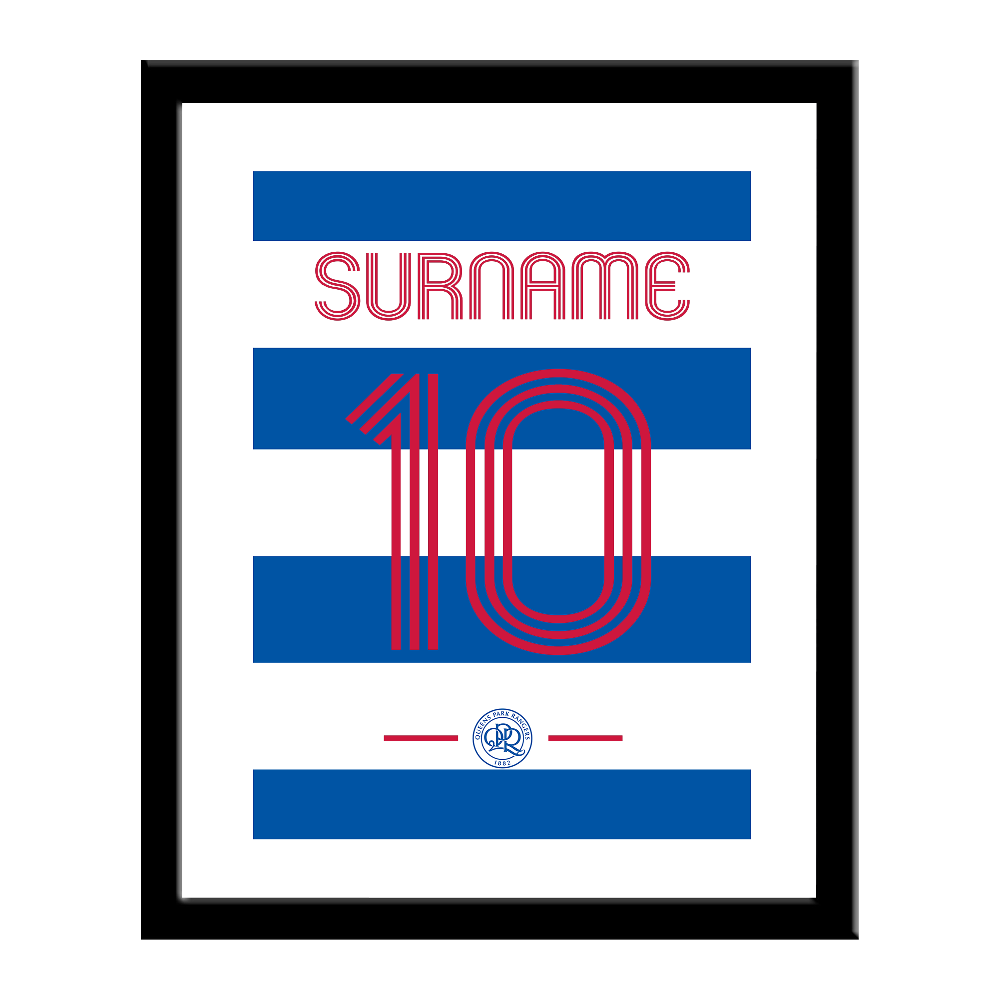 Queens Park Rangers FC Retro Shirt Print
