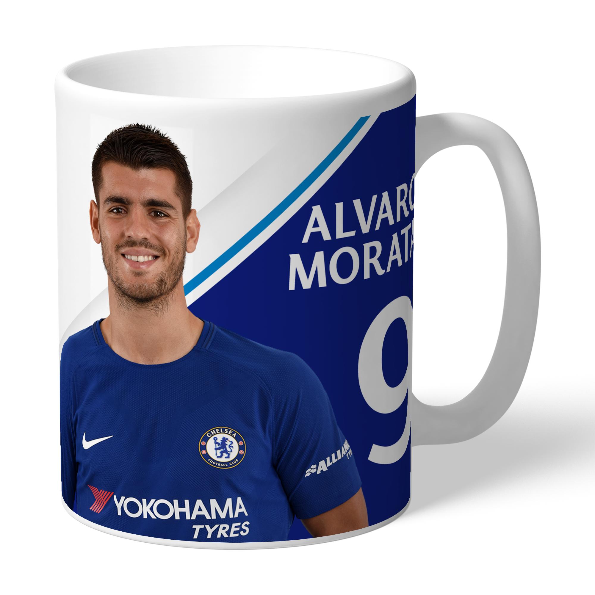 Chelsea FC Morata Autograph Mug