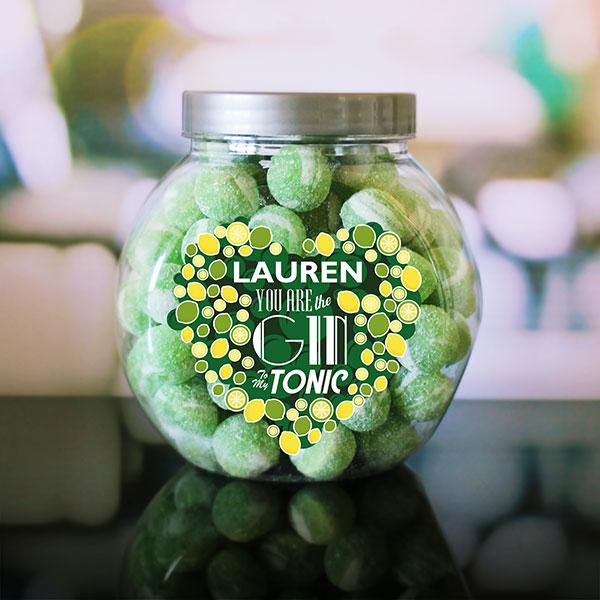 Gin and Tonic sweet jar