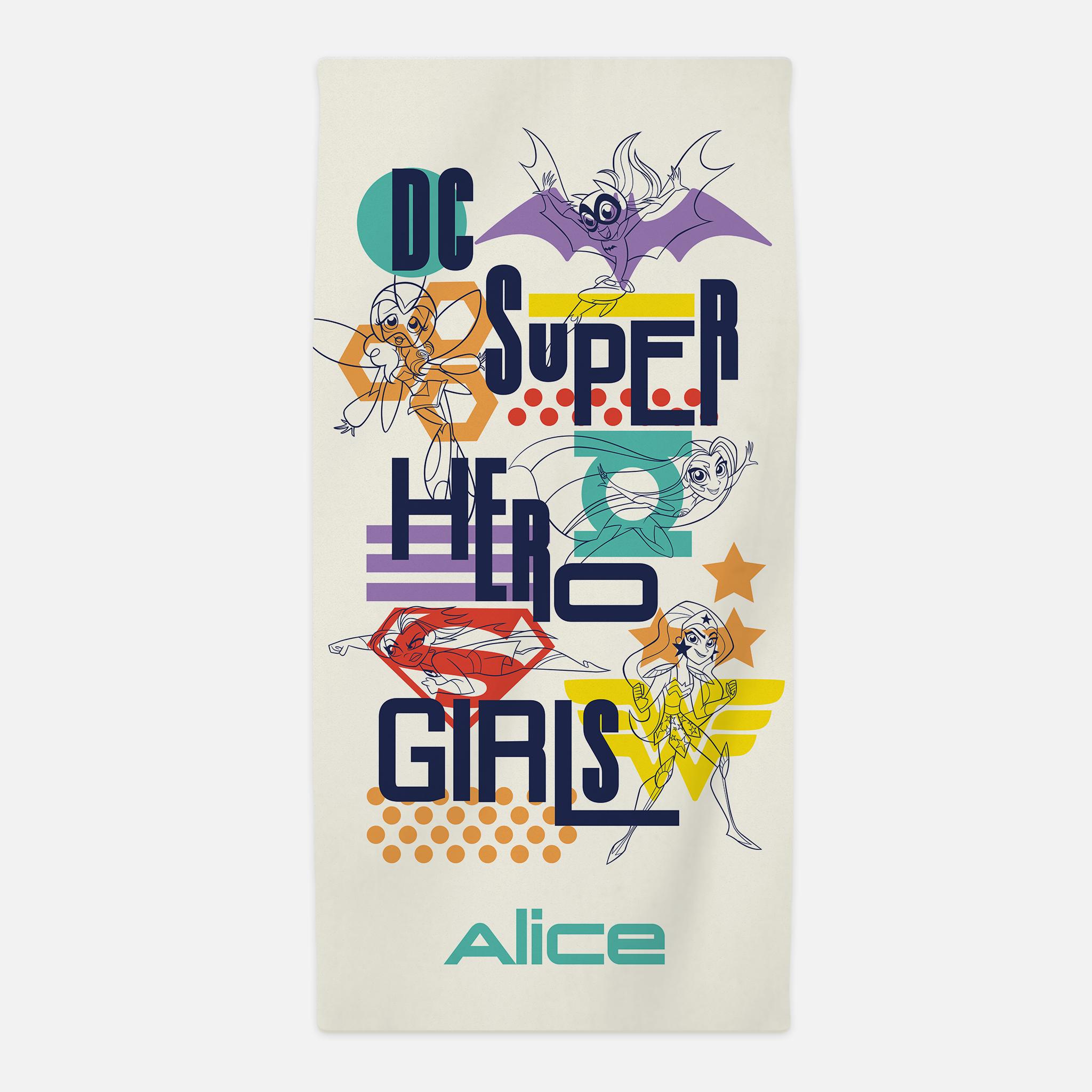 Justice League™ Personalised Towel - Superhero Girls