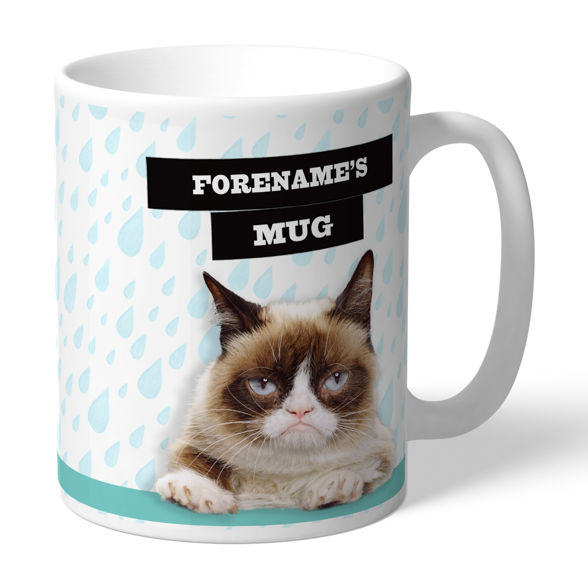 Grumpy Cat - Grumpy Is My Job Rain Mug