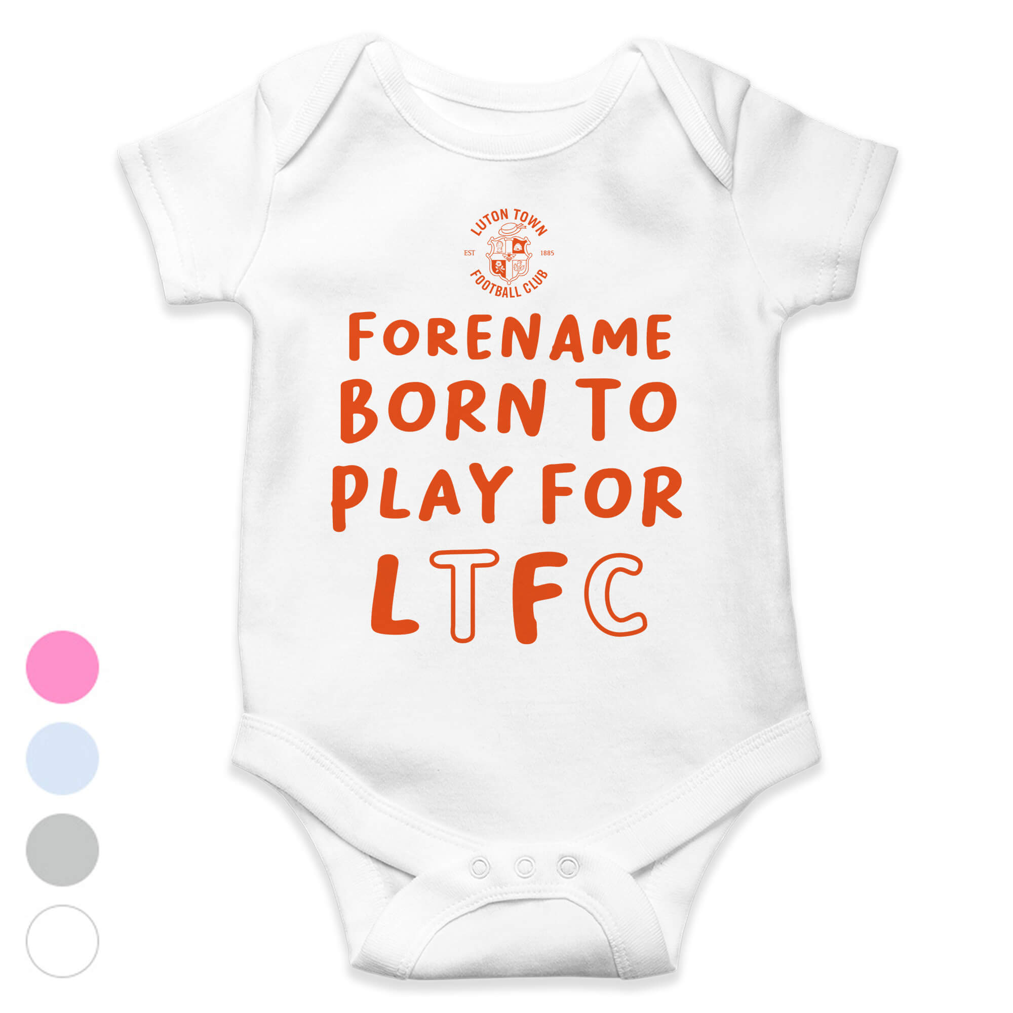Luton Town FC Born to Play Baby Bodysuit