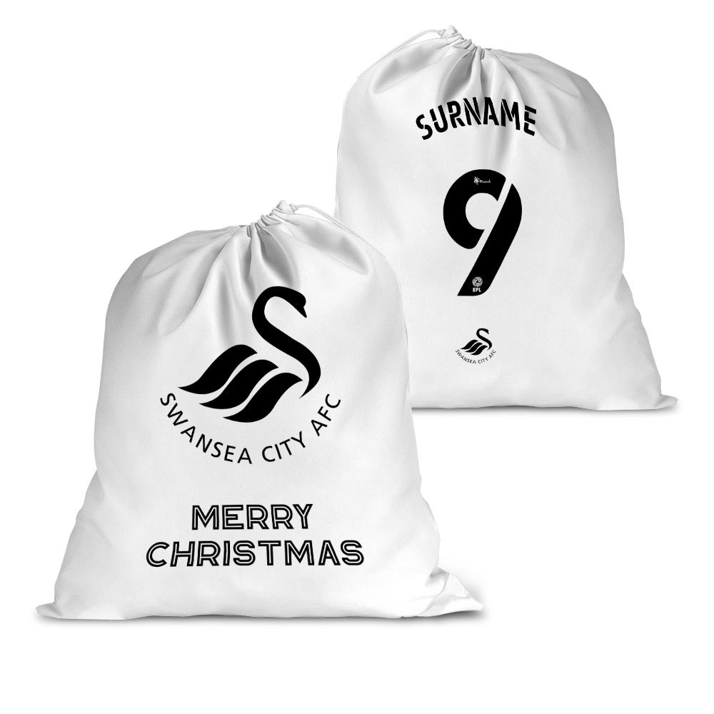 Swansea City AFC Back of Shirt Santa Sack