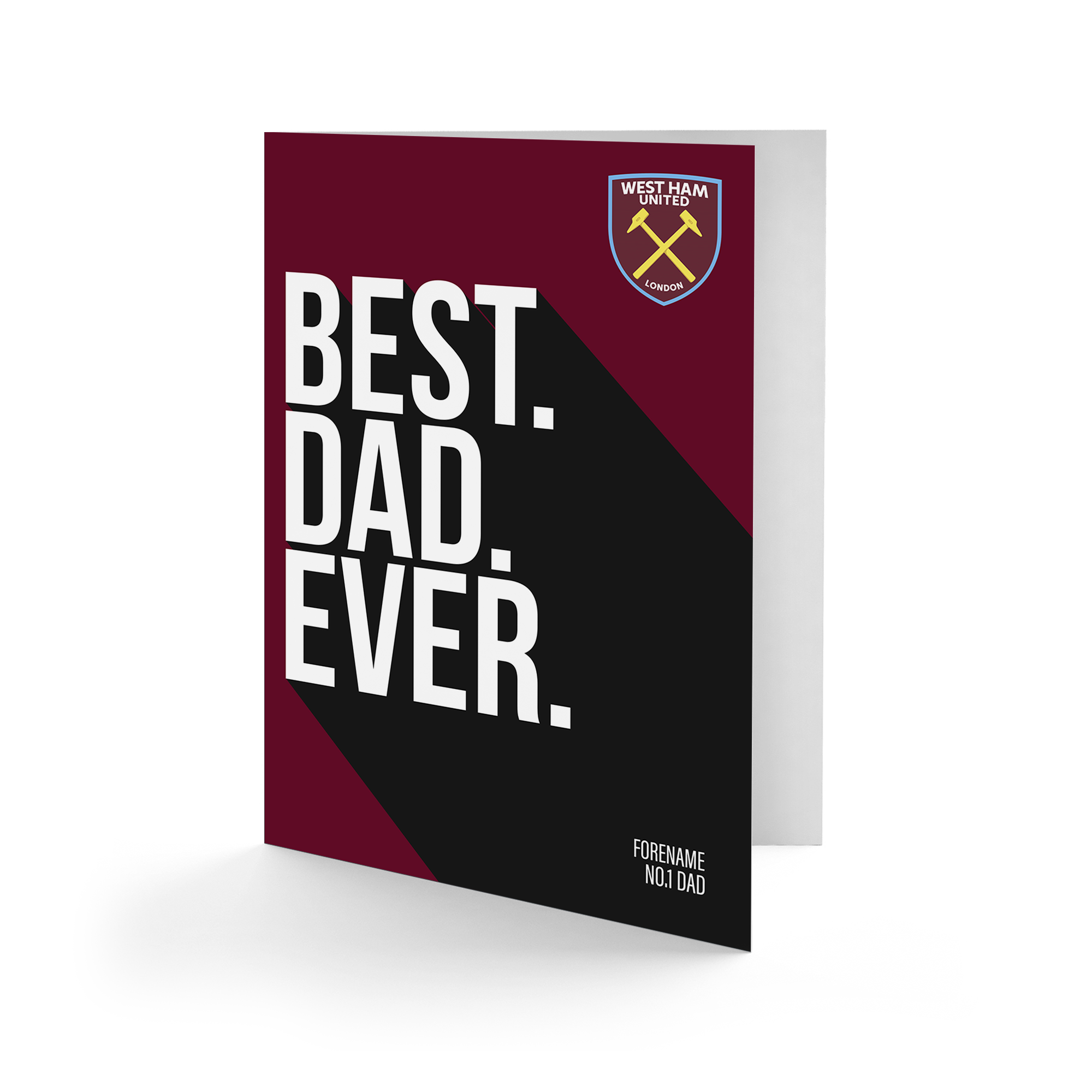 West Ham United FC Best Dad Ever Card