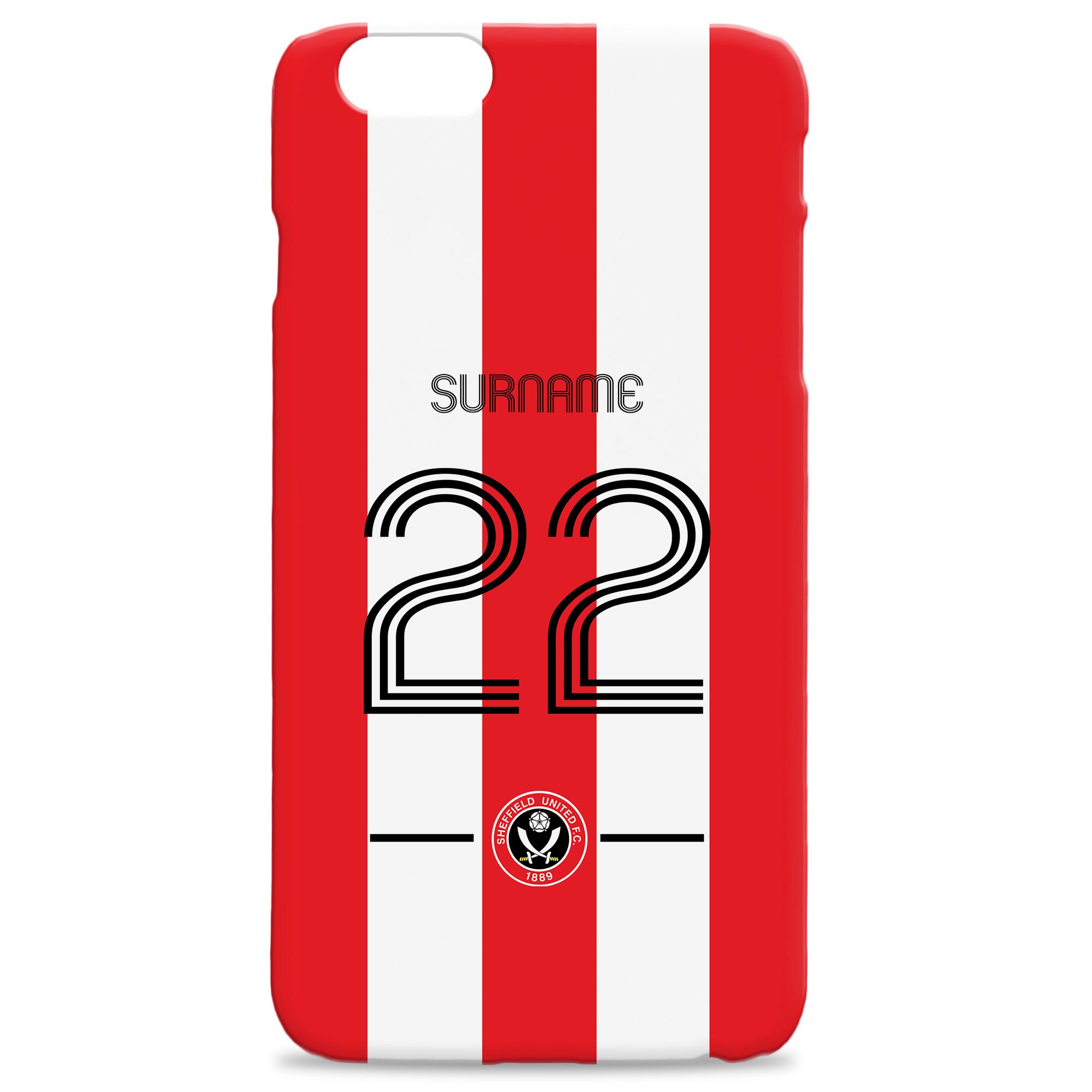 Sheffield United Retro Shirt Hard Back Phone Case