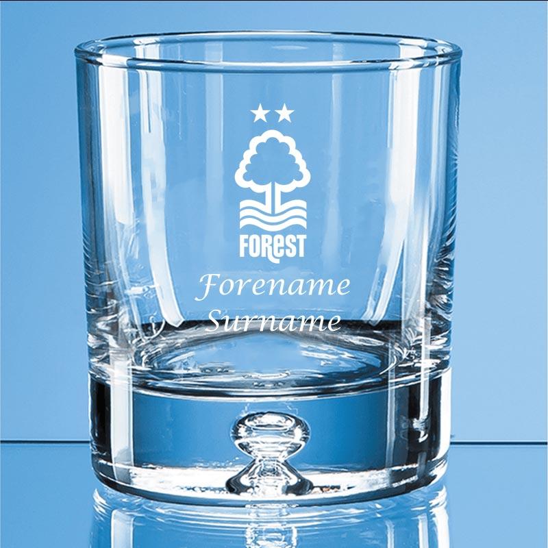 Nottingham Forest FC Crest Bubble Base Whisky Tumbler