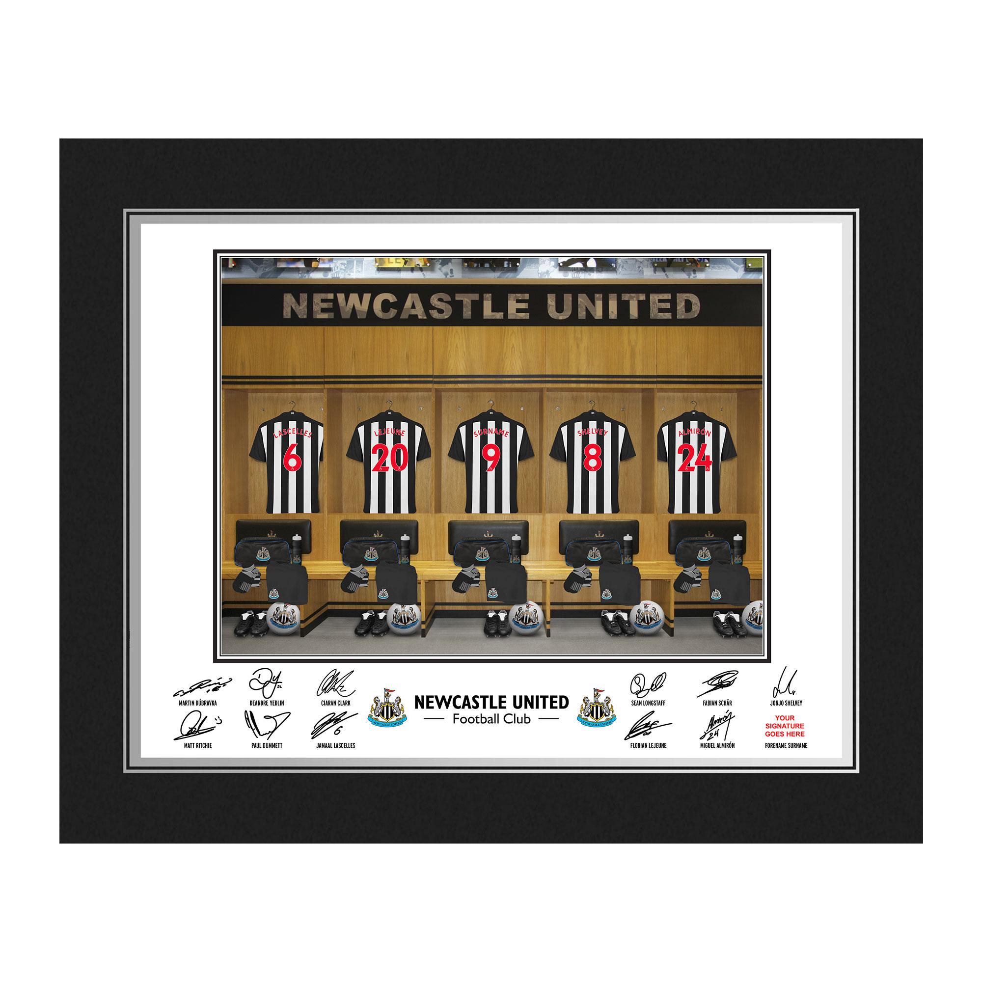 Newcastle United FC Dressing Room Photo Folder