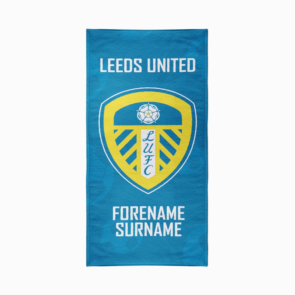 Leeds United FC Crest Design Towel - 80cm x 160cm