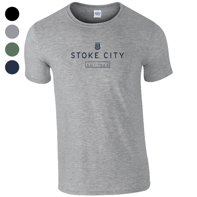 Stoke City FC Minimal T-Shirt