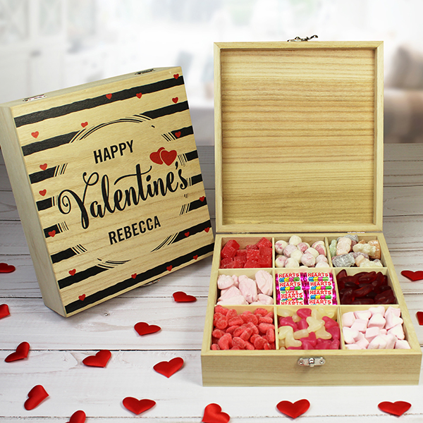Wooden Valentine Sweet Box