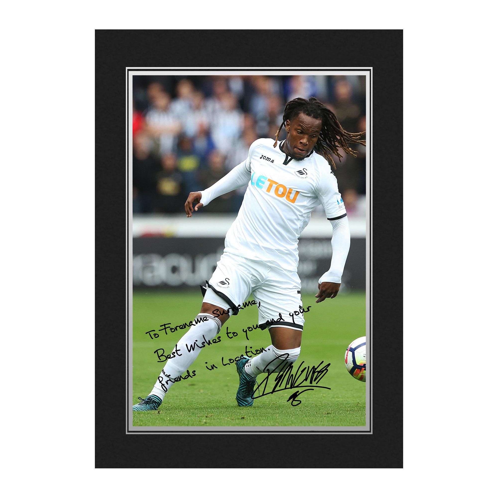 Swansea City AFC Sanches Autograph Photo Folder
