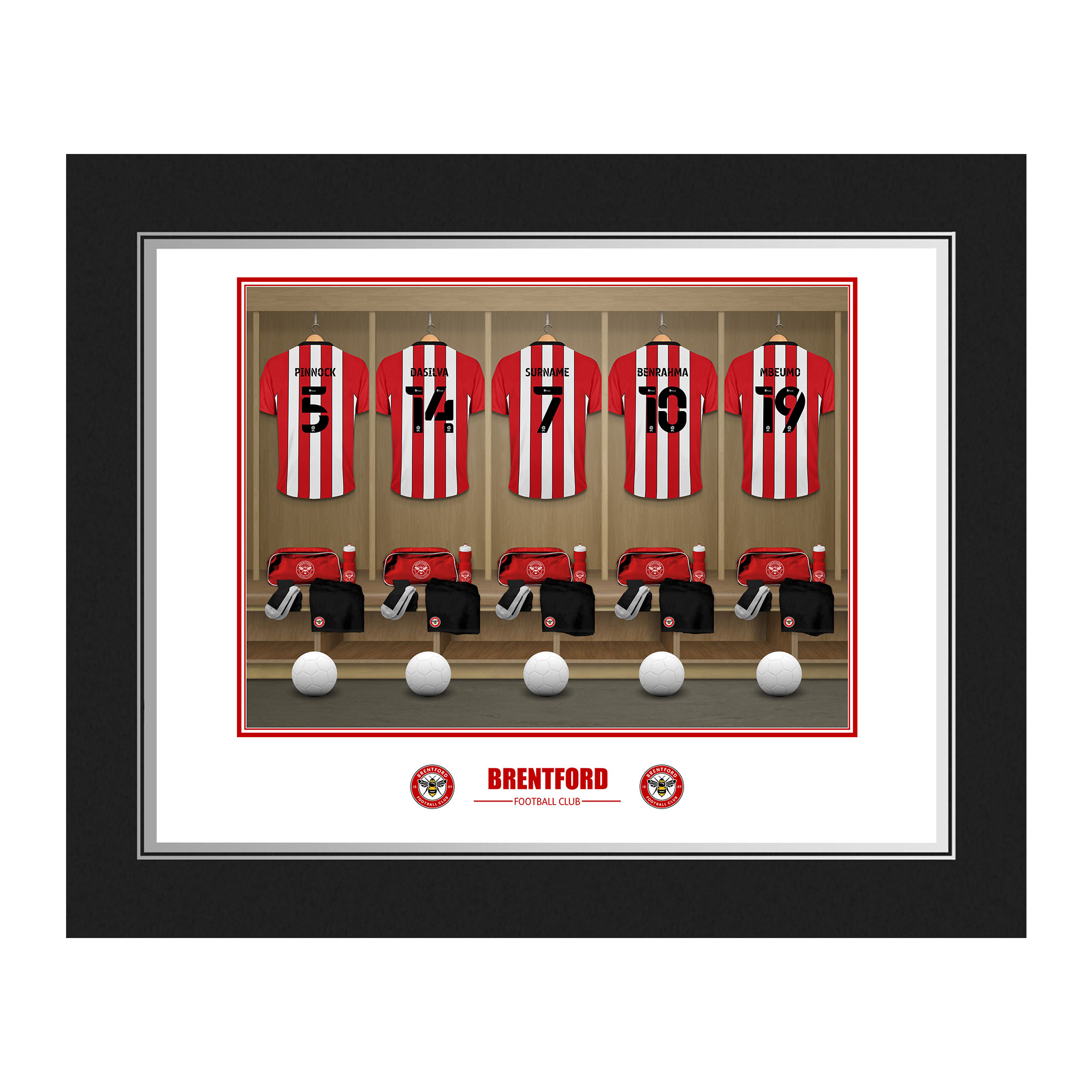 Brentford FC Dressing Room Photo Folder
