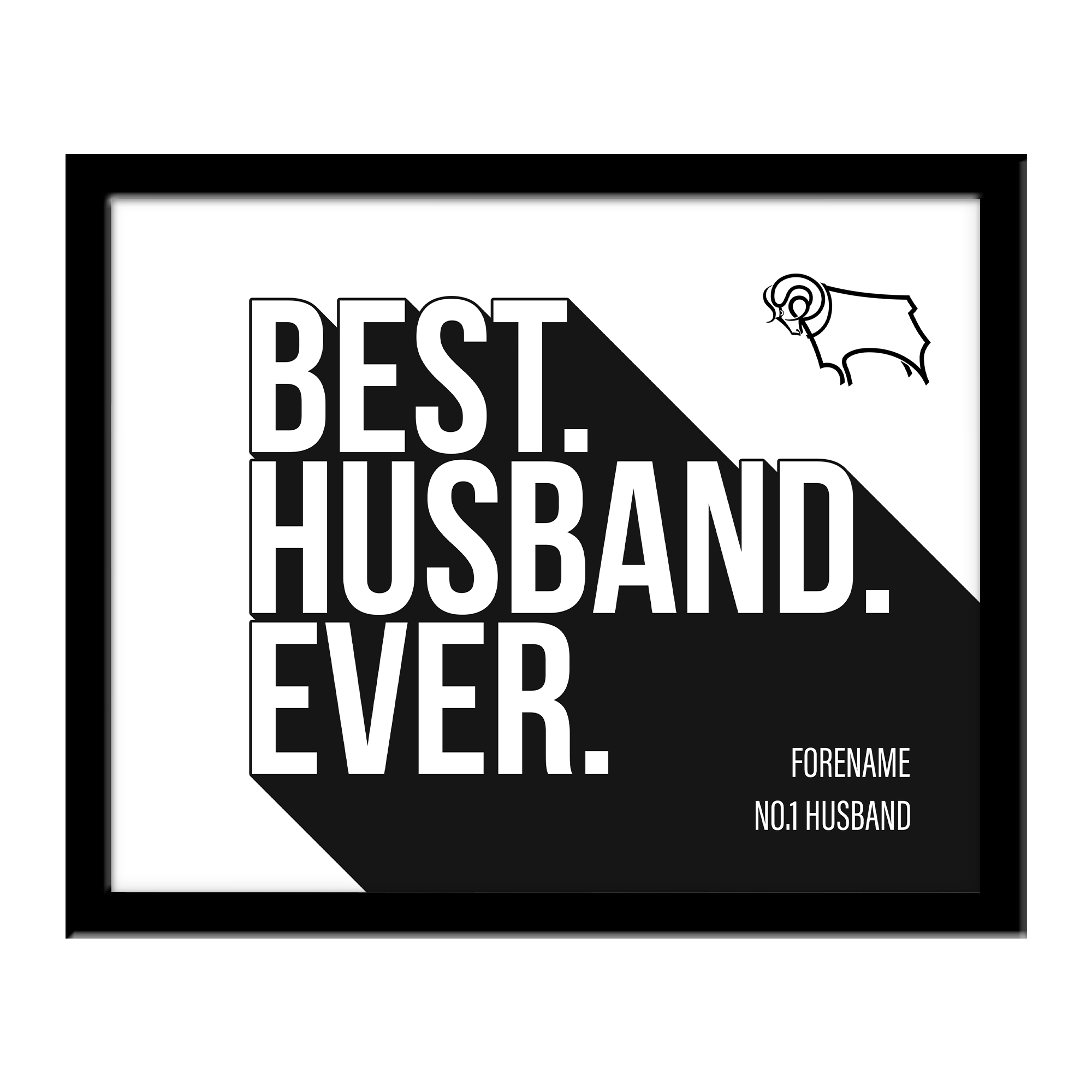 Derby County Best Husband Ever 10 x 8 Photo Framed