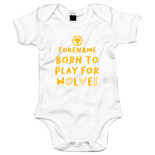 Wolves Born to Play Baby Bodysuit