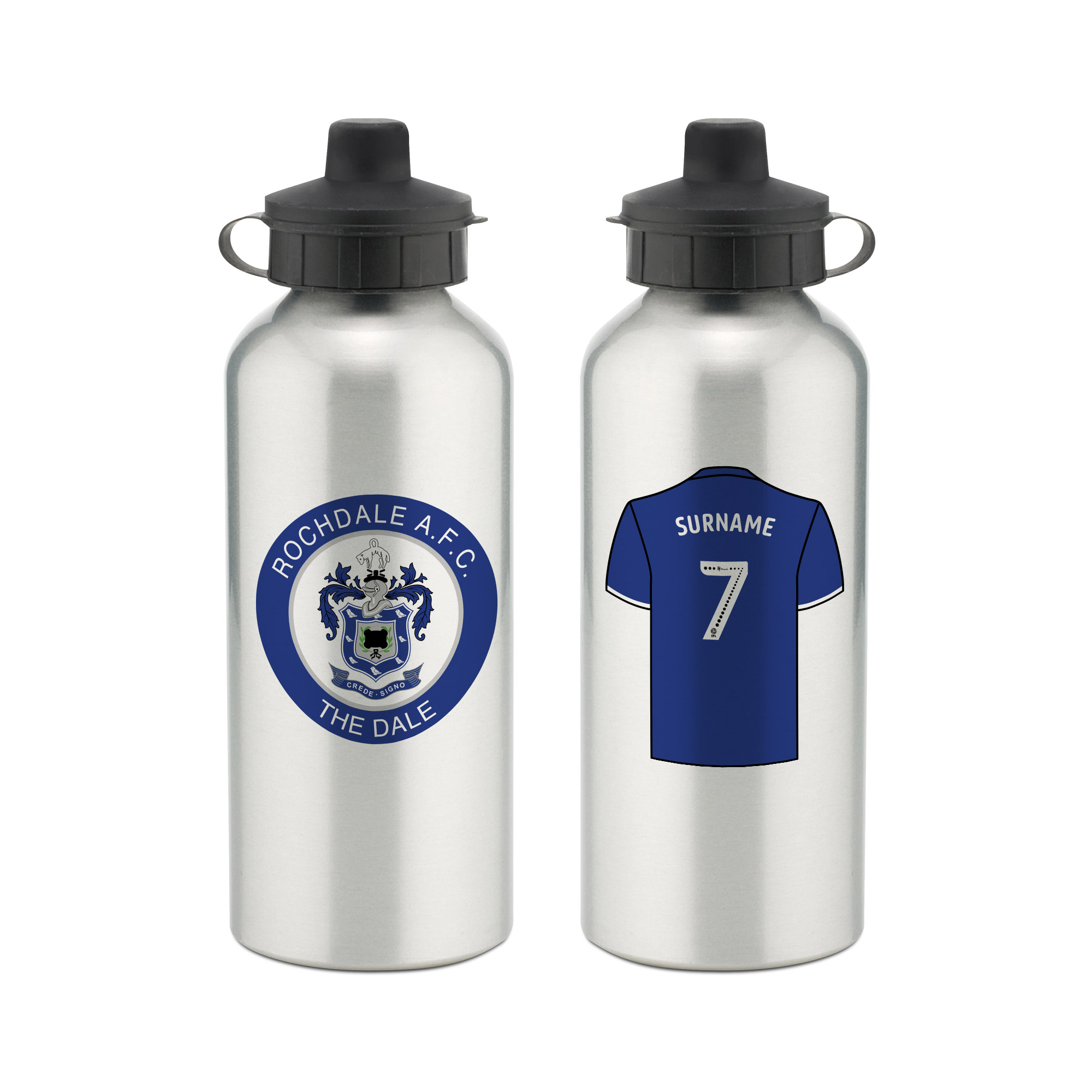 Rochdale AFC Aluminium Water Bottle