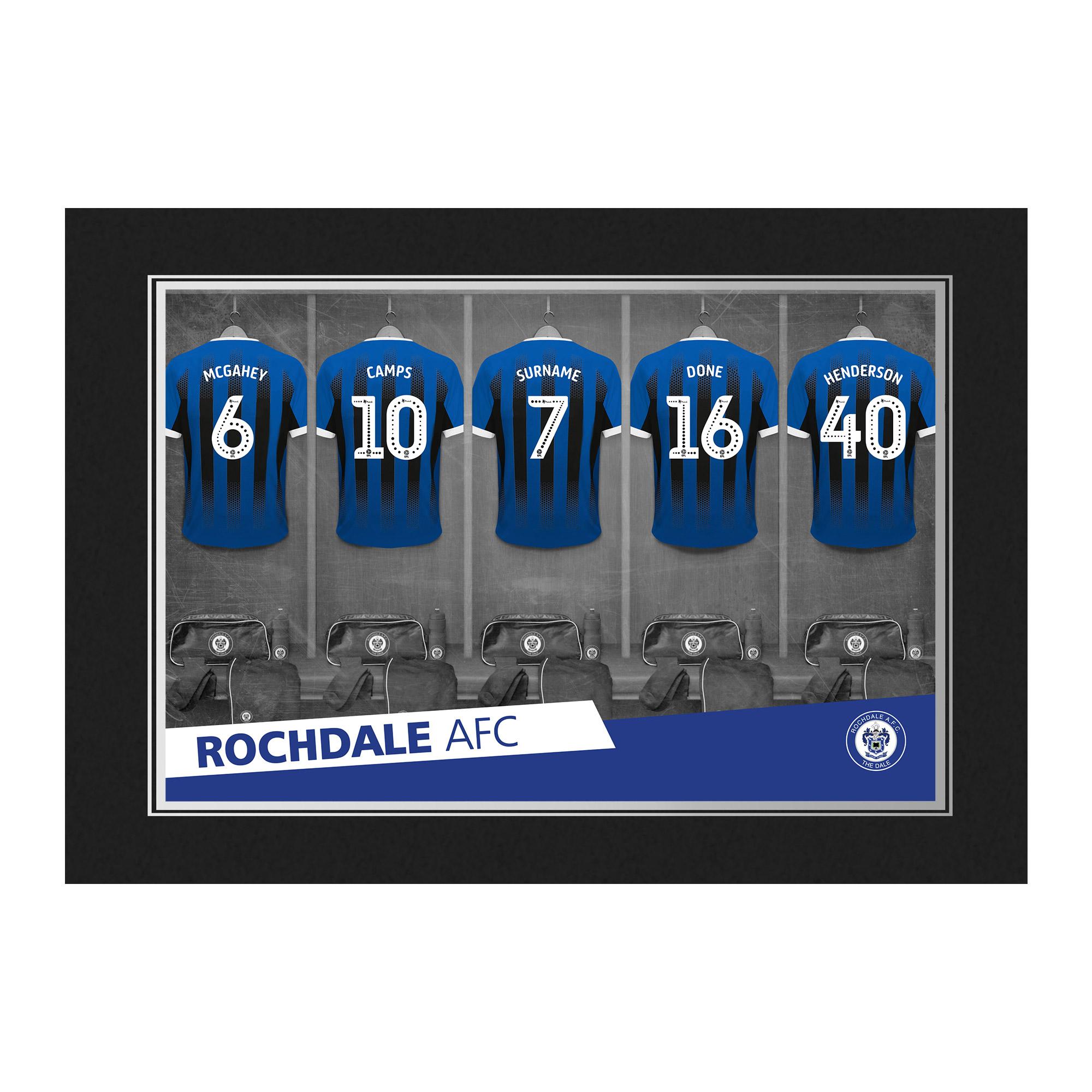 Rochdale AFC 9x6 Dressing Room Photo Folder