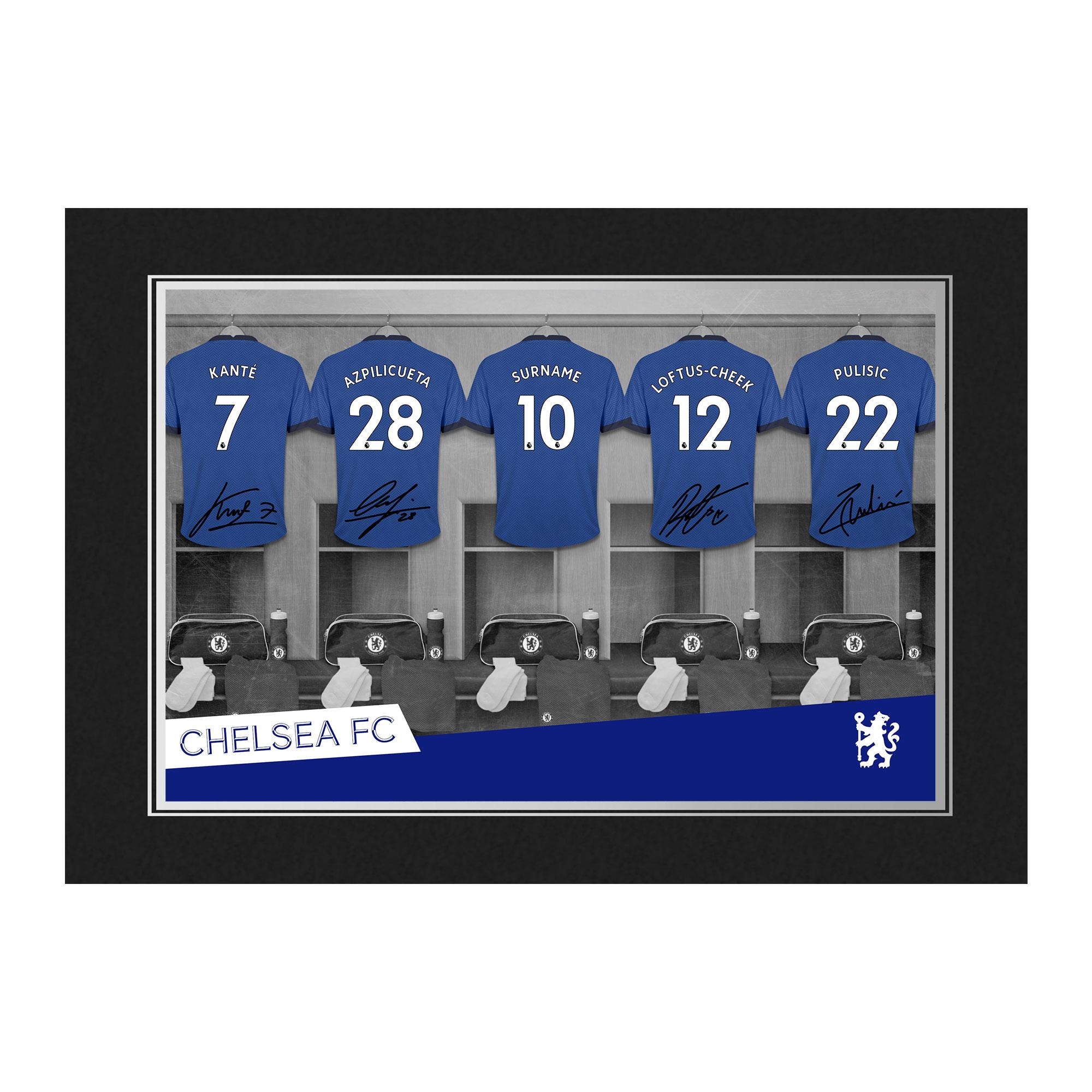 Chelsea FC 9x6 Dressing Room Photo Folder