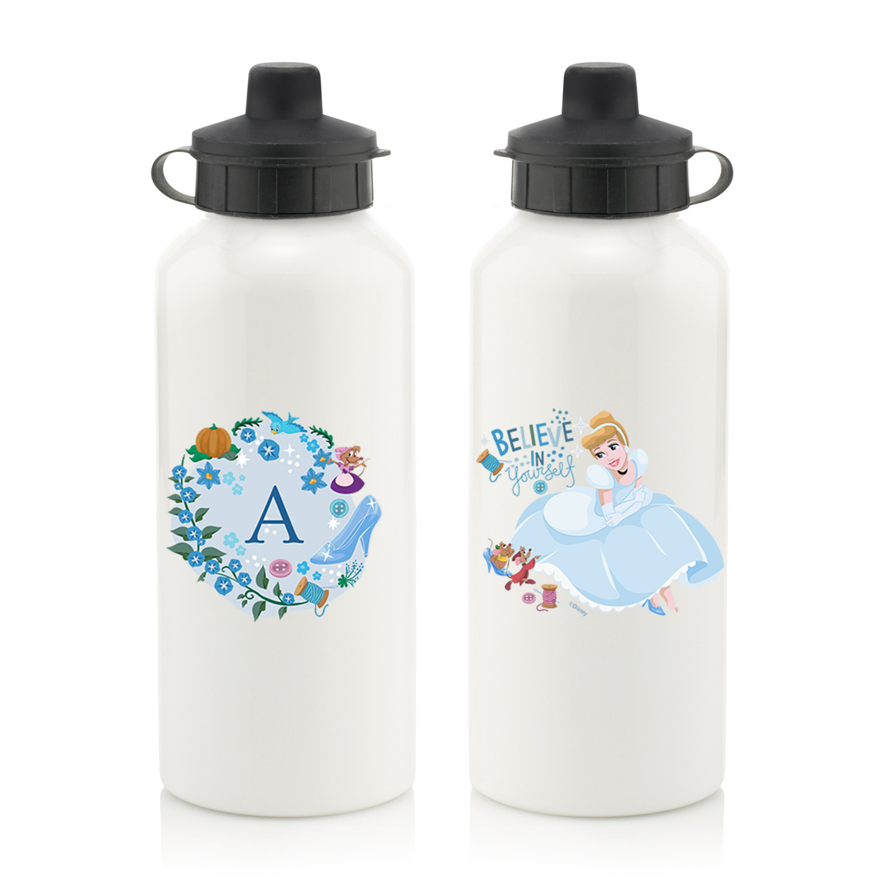 Disney Princess Cinderella Initial Water Bottle