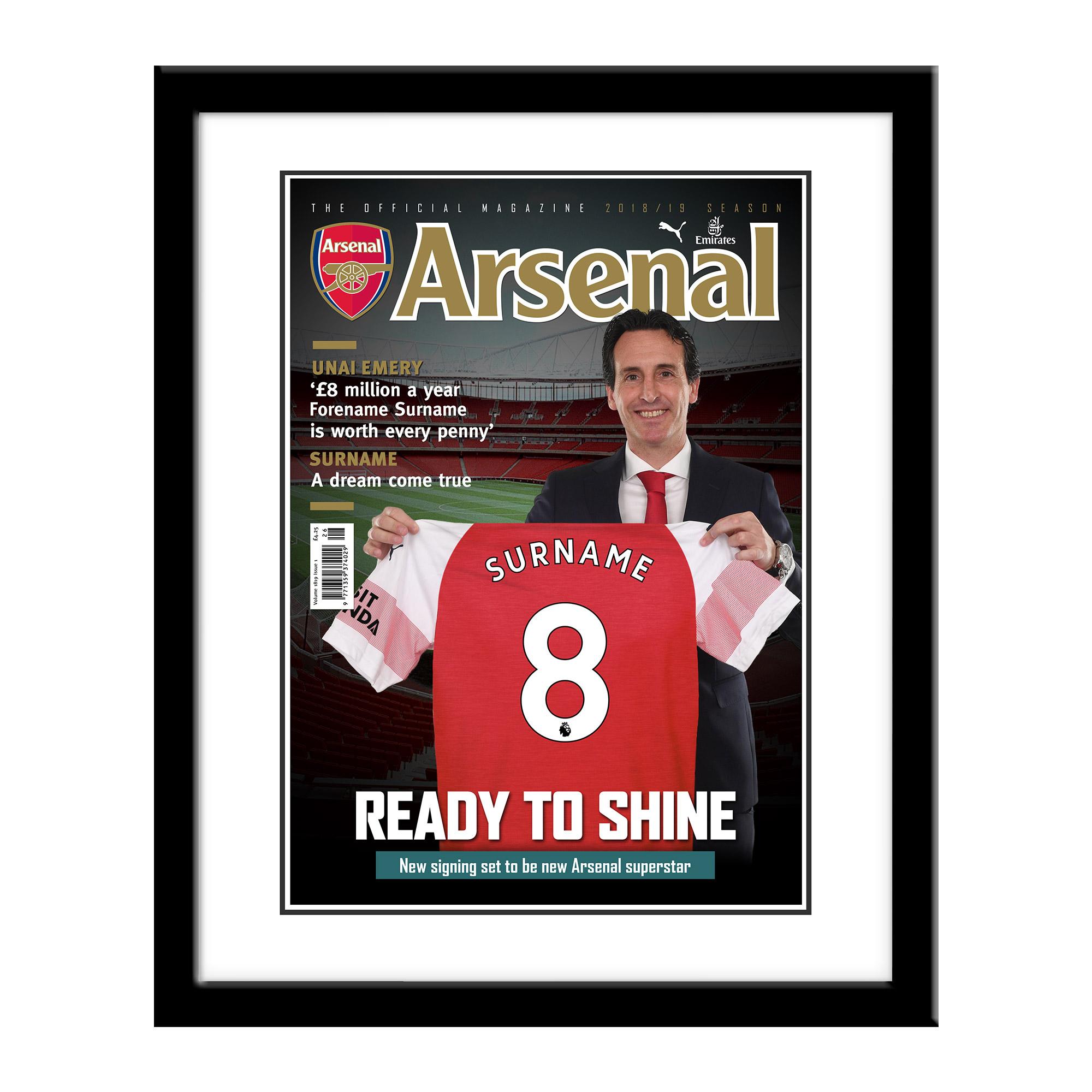Arsenal FC Magazine Front Cover Framed Print