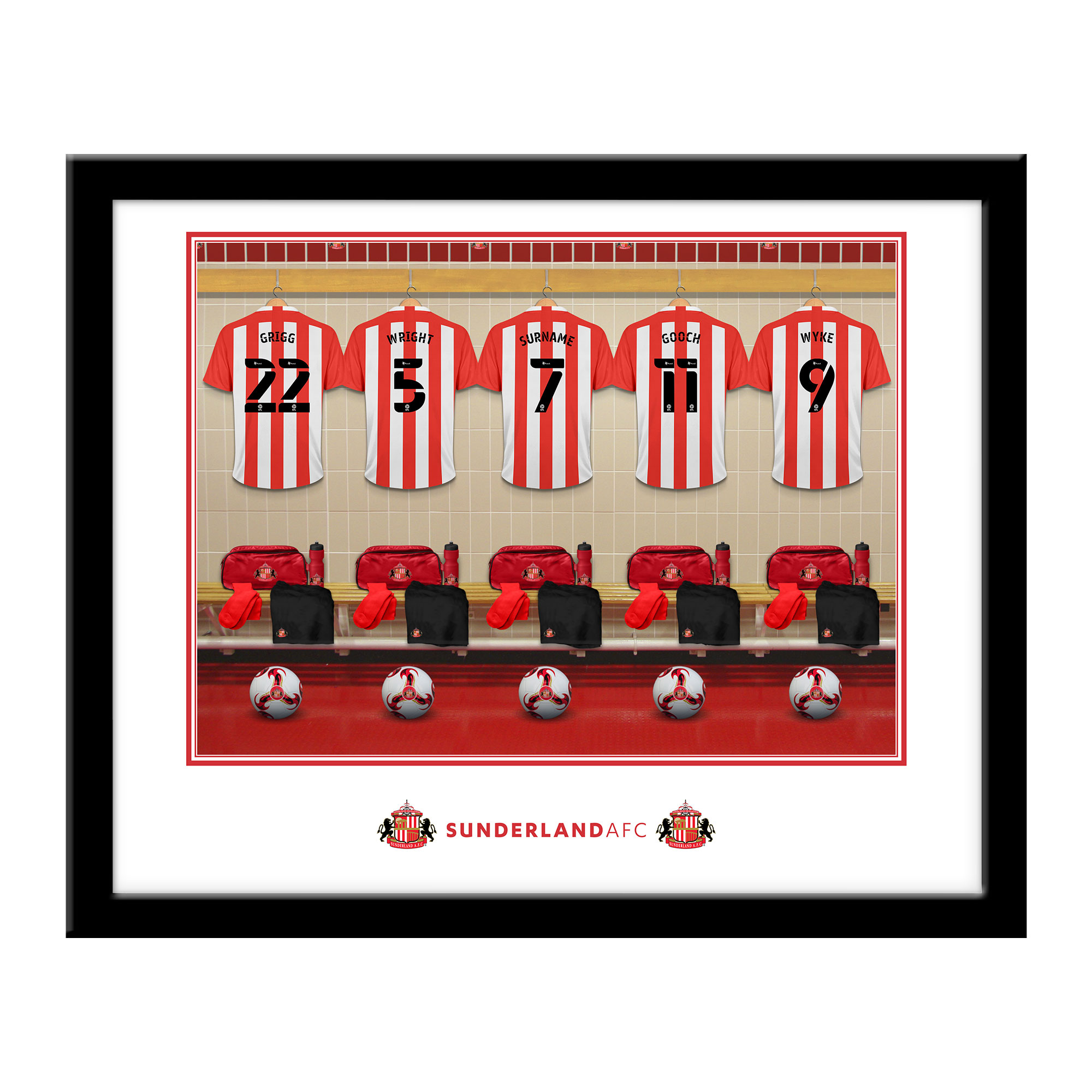 SAFC Dressing Room Framed Print