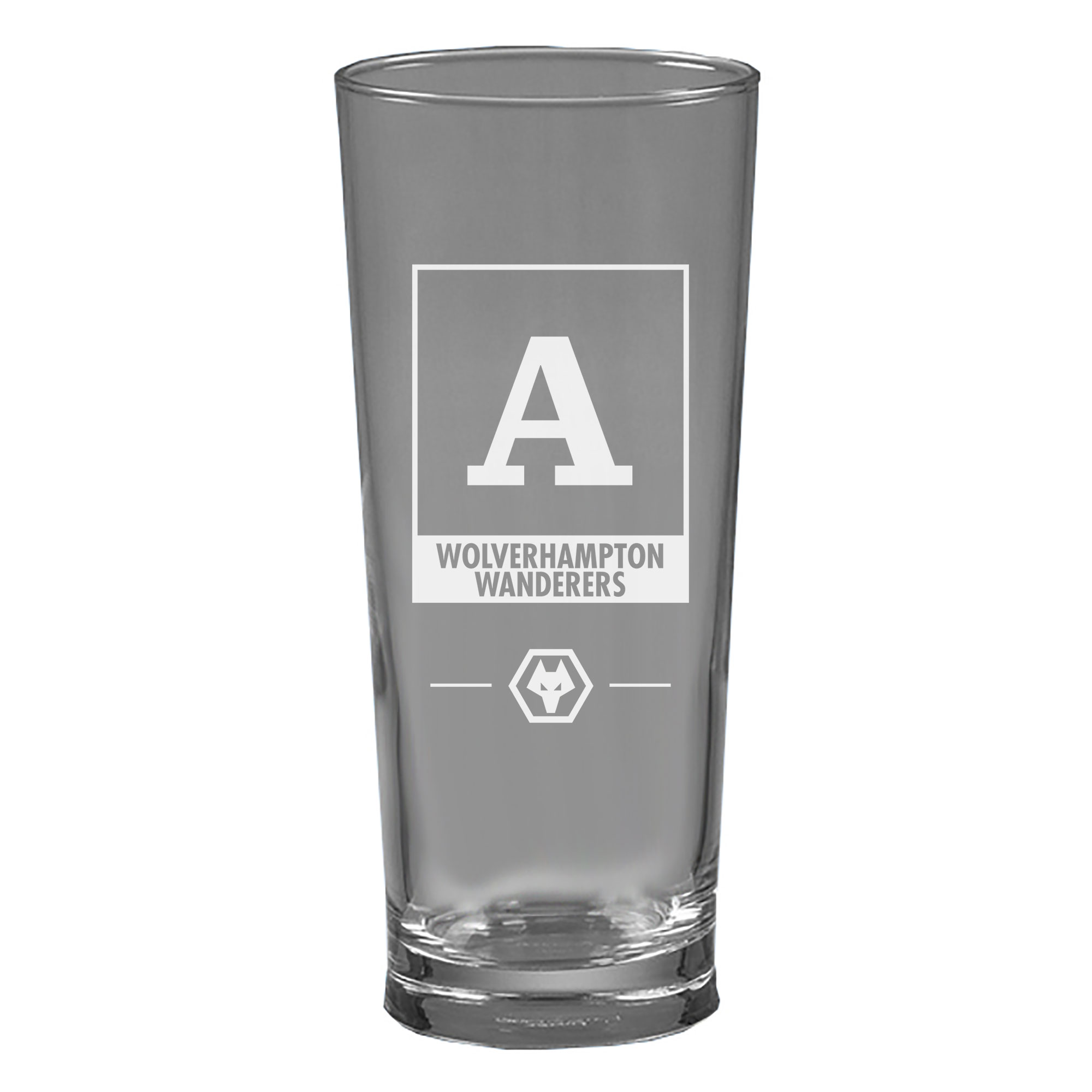 Wolves Monogram Straight Sided Beer Glass